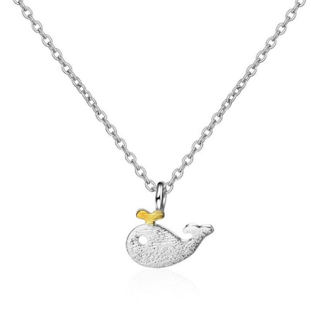 Sterling Silver Whale Necklace Set SALE 25% (£12-17.50)