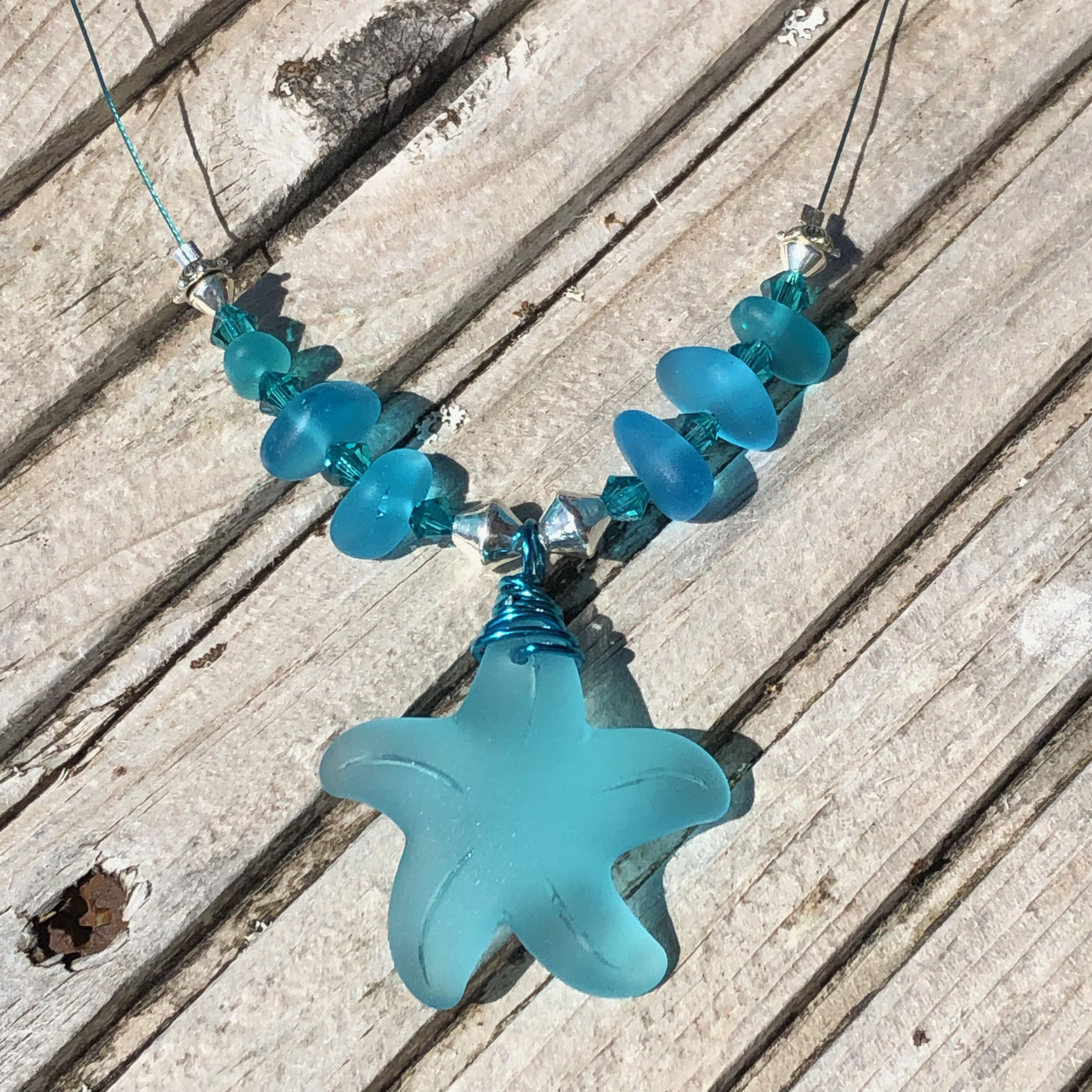Starfish Necklace: Pacific Blue SALE 20% (£30)