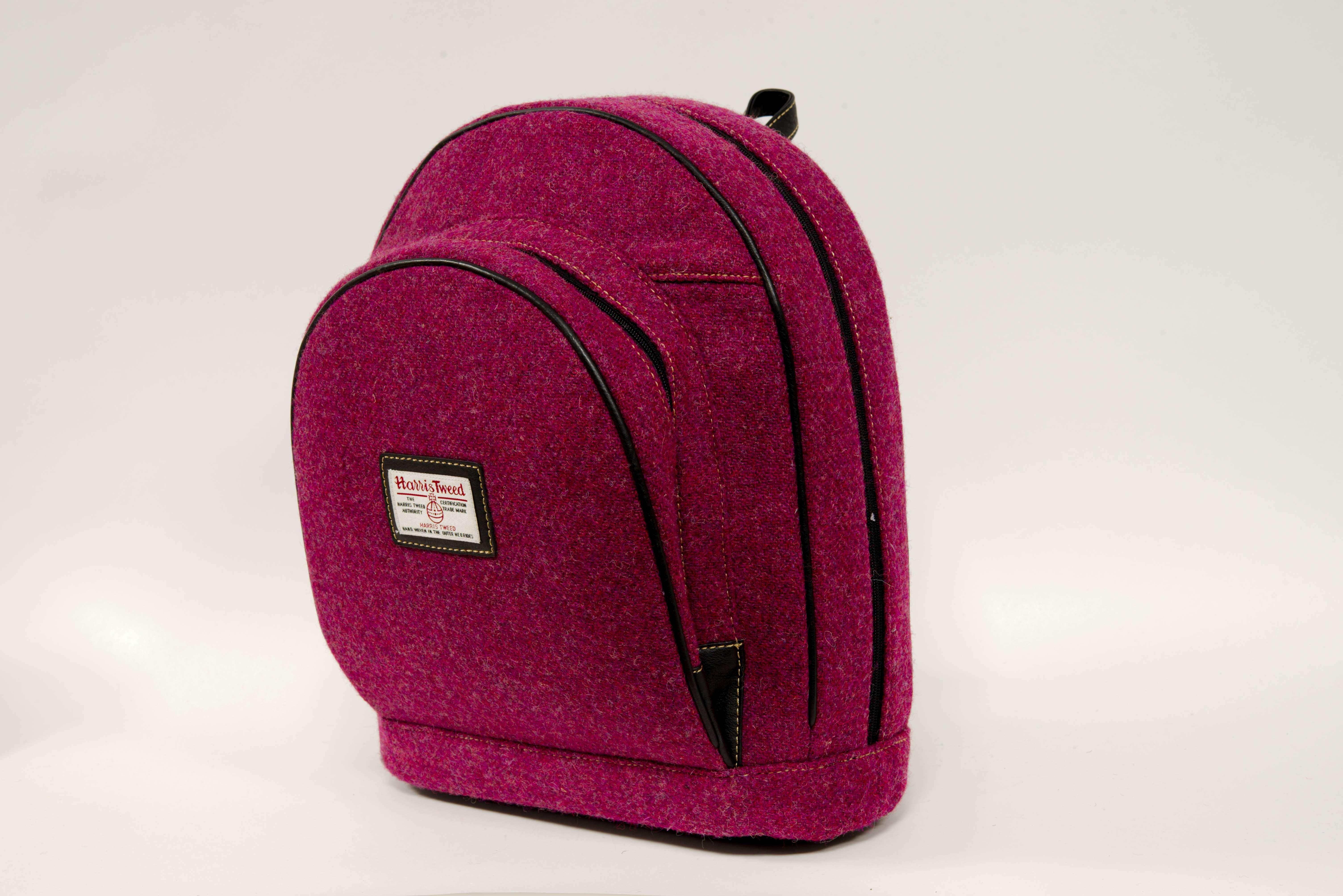 Harris Tweed Backpack Fucshia SALE 20% (£82)