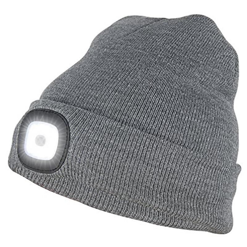 LED Beanie Hat - Grey