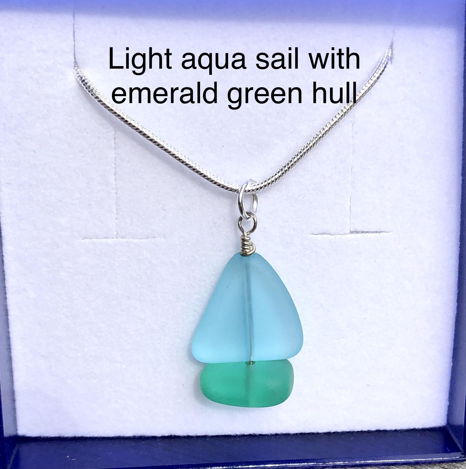 Sea Glass Yacht Necklace SALE (£24)