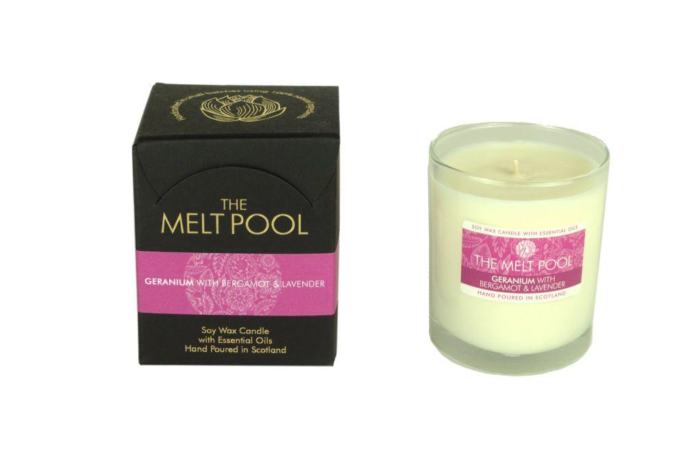 The Melt Pool Candle: Geranium, Bergamot