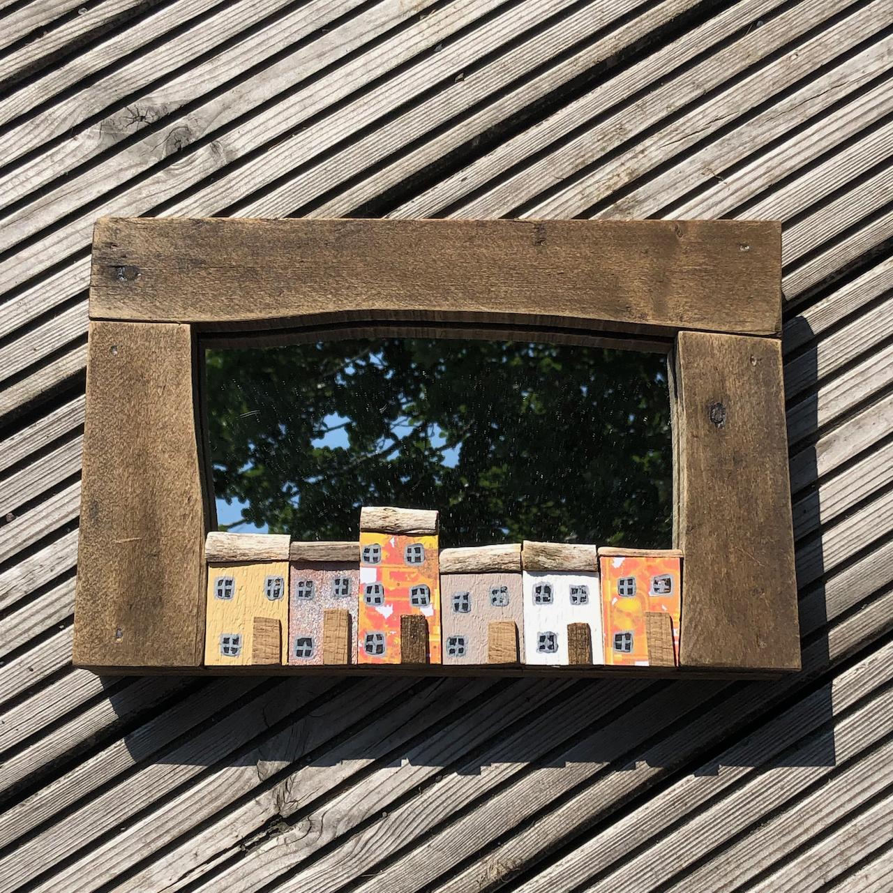 Handmade Driftwood Mirror 30x20cm
