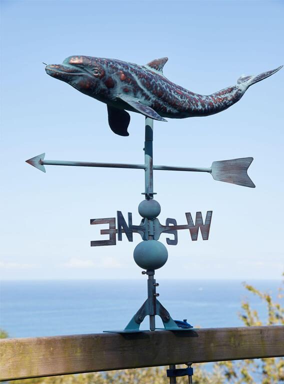 Outdoor Dolphin Weathervane