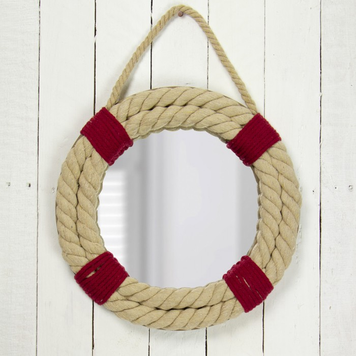 Mirror with Rope Life Ring 32cm