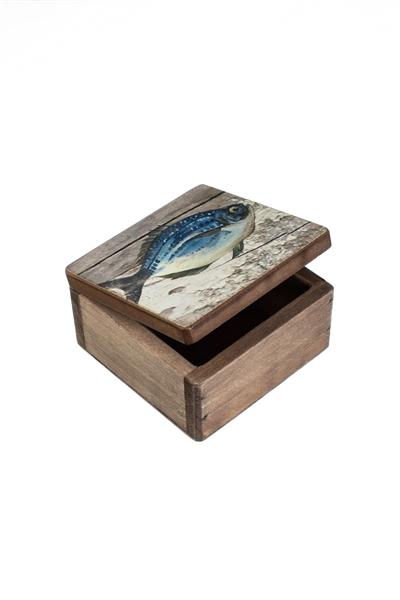Fish Trinket Box 9x9cm