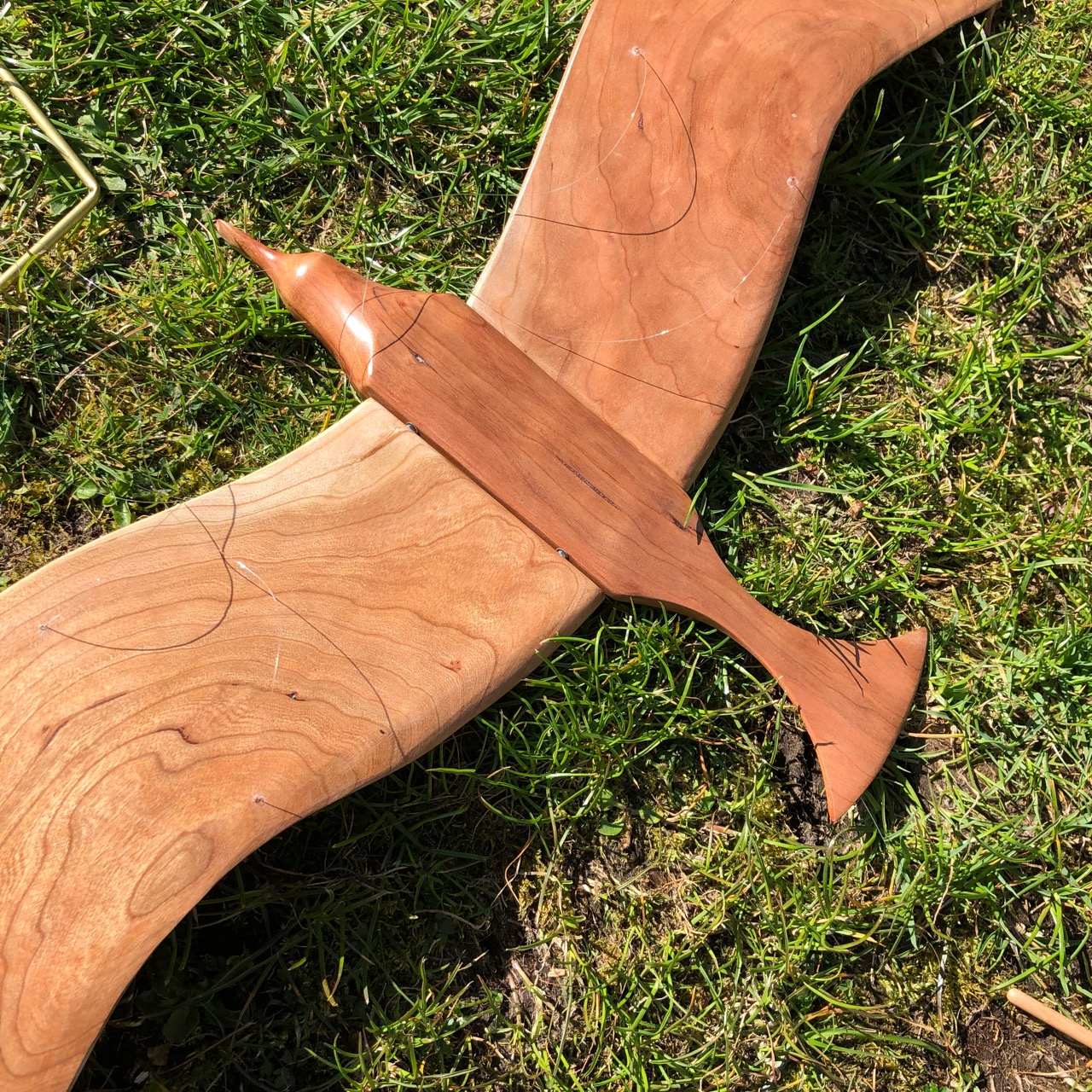 Handcrafted Large Bird - Cherry