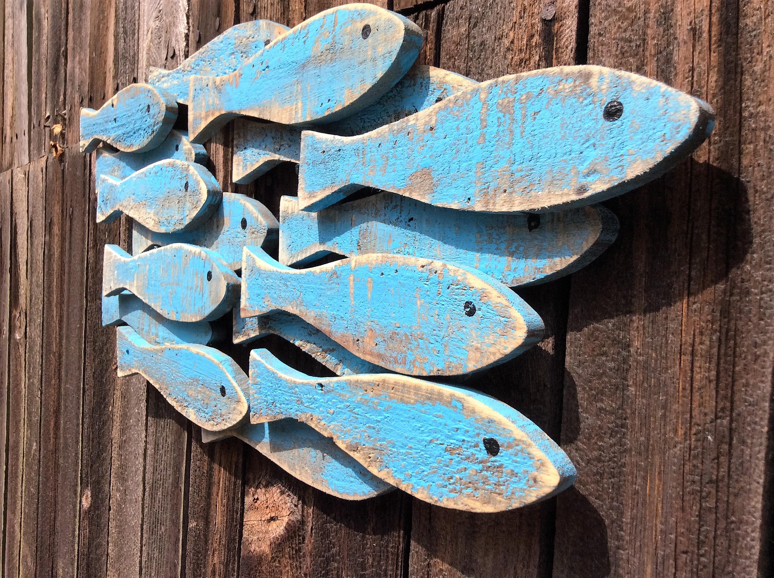 Blue Shoal of Fish