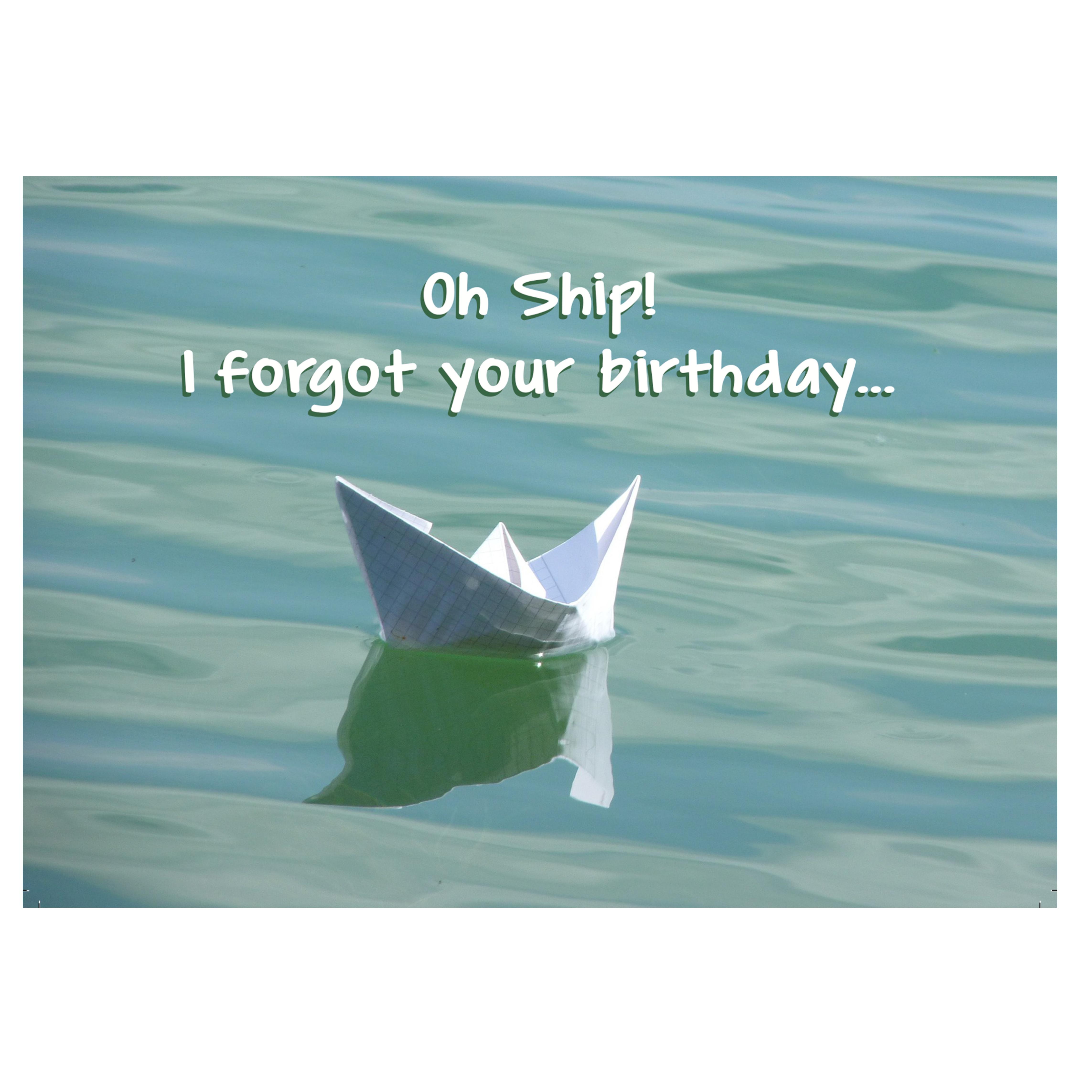 L57 Card: Birthday Oh Ship!