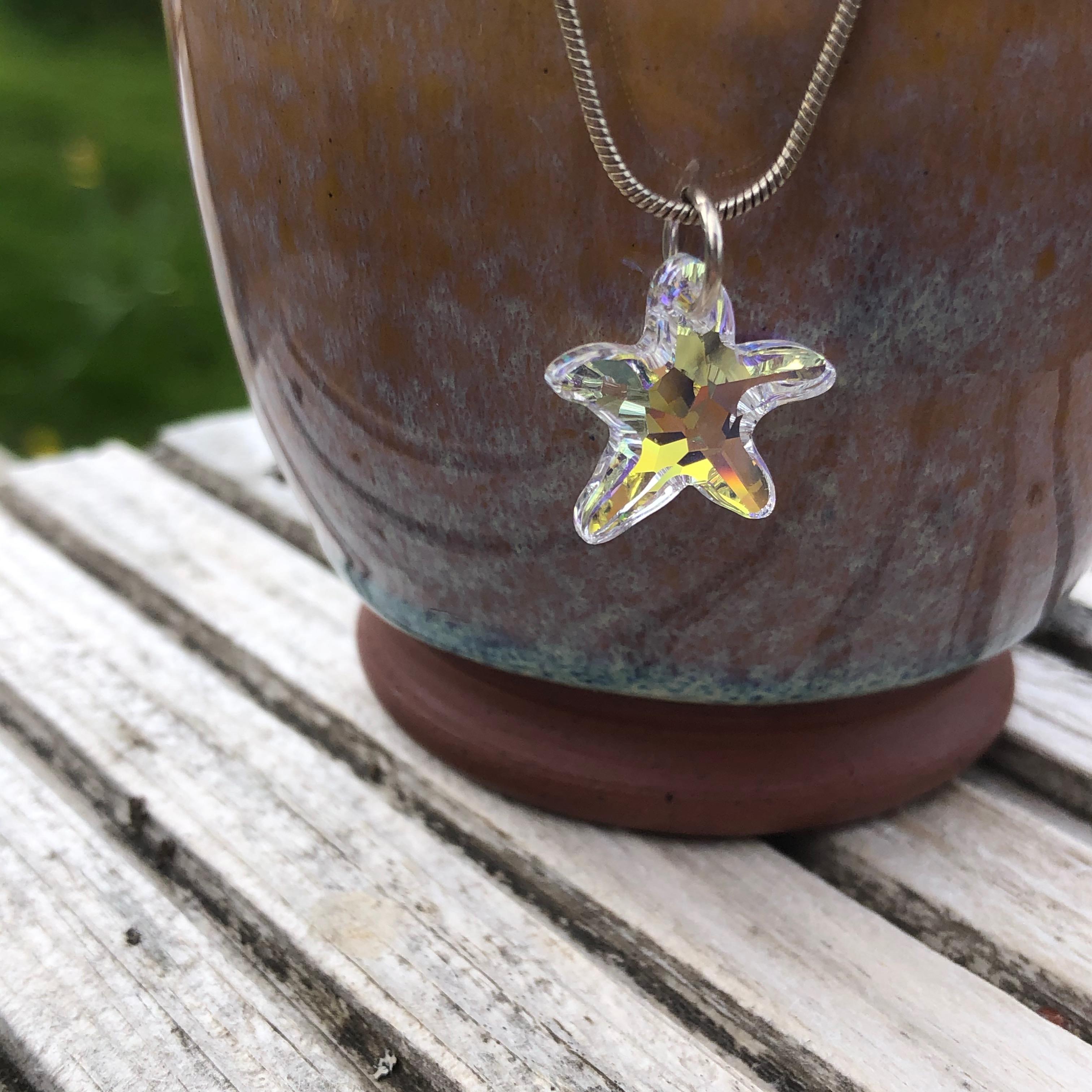 Necklace: Swarovski Starfish 16mm AB SALE 10% (£13)