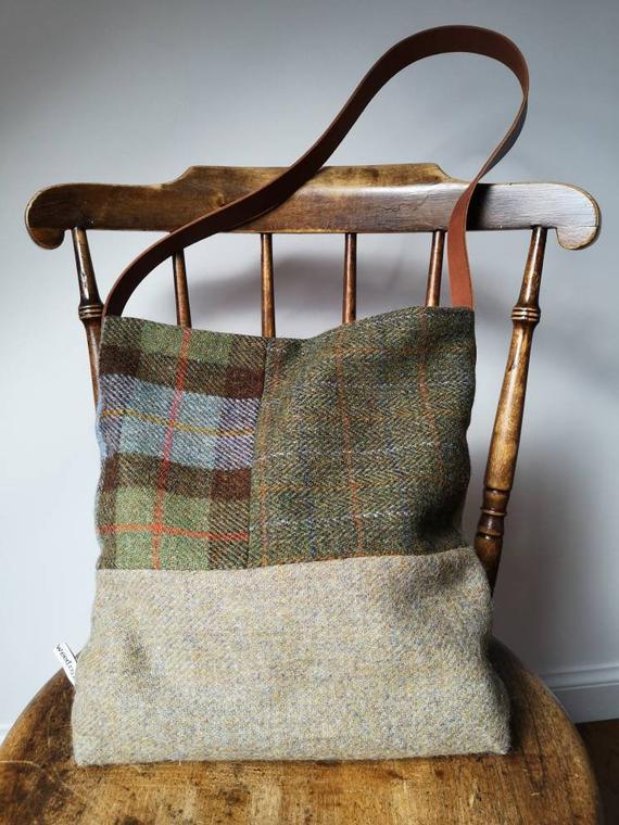 Hand Crafted Harris Tweed Tote Bag SALE 15% (£90)