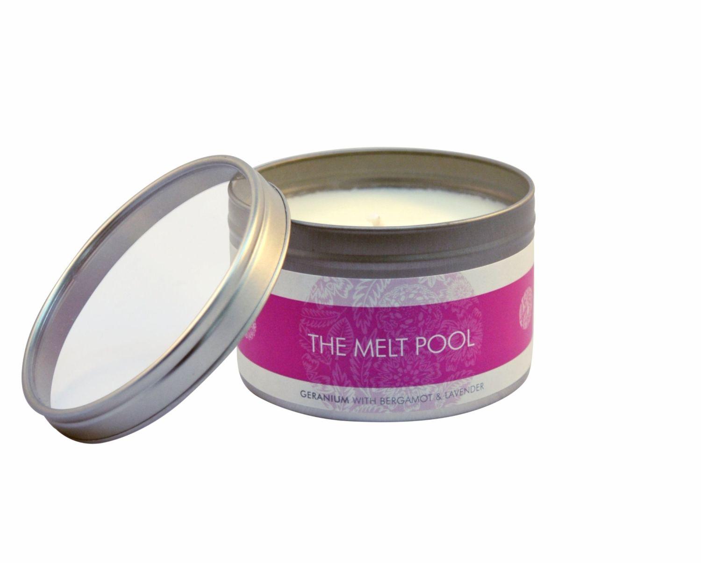 The Melt Pool Large Tin: Geranium with Bergamot & Lavender