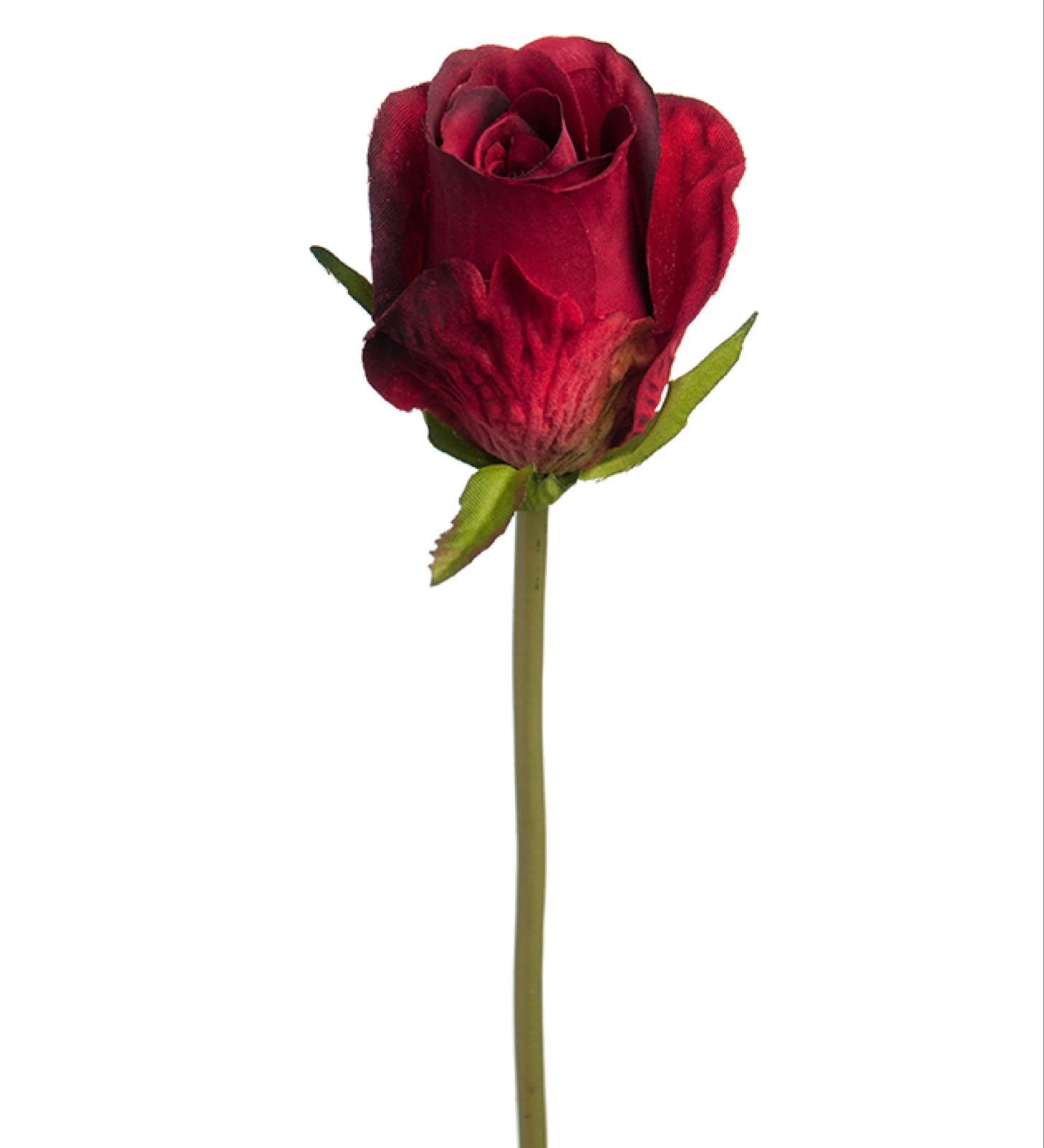 Kunstig rose, rød