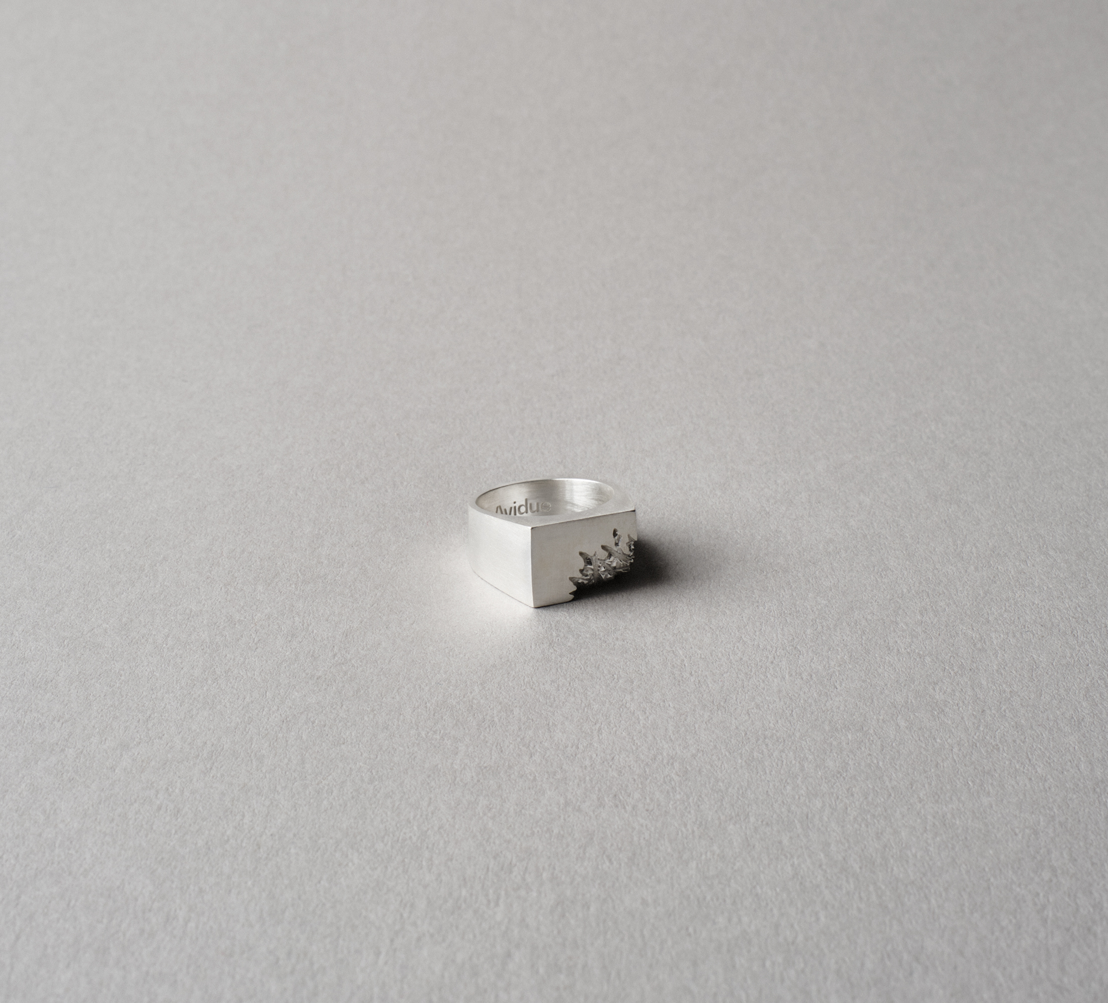 Cracked Ring Silver