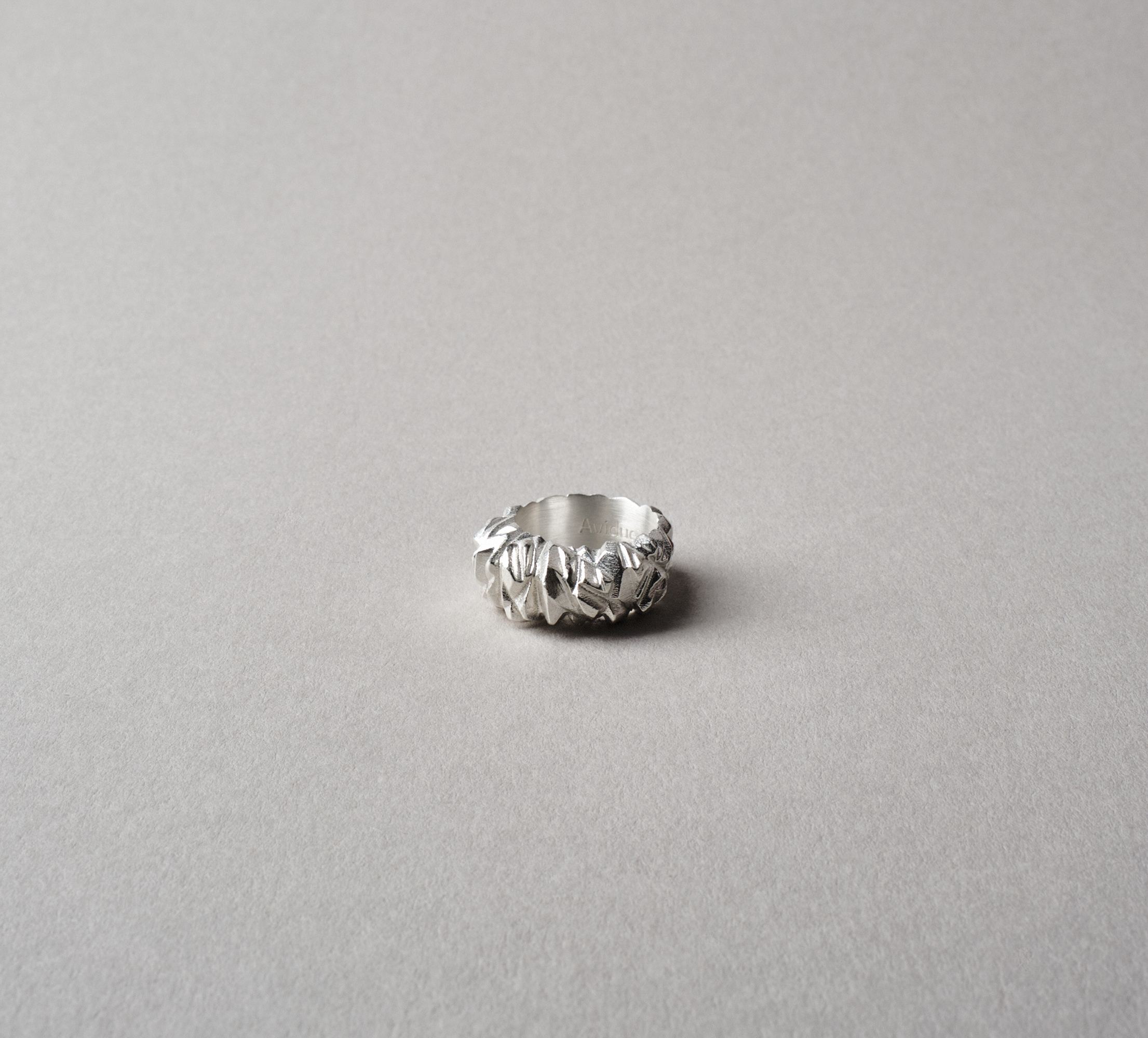 Crystal Ring Silver