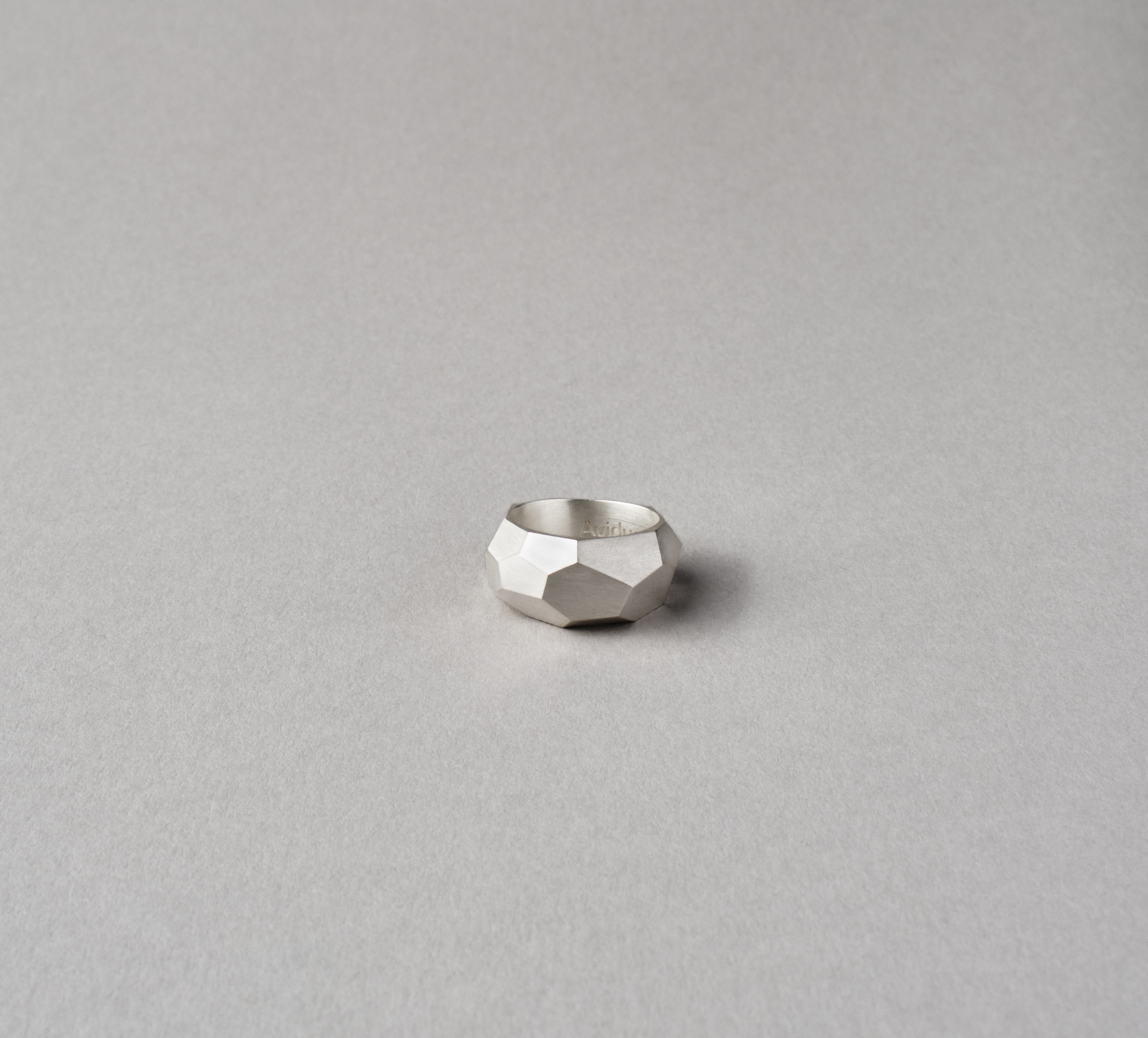 Facet Ring Silver