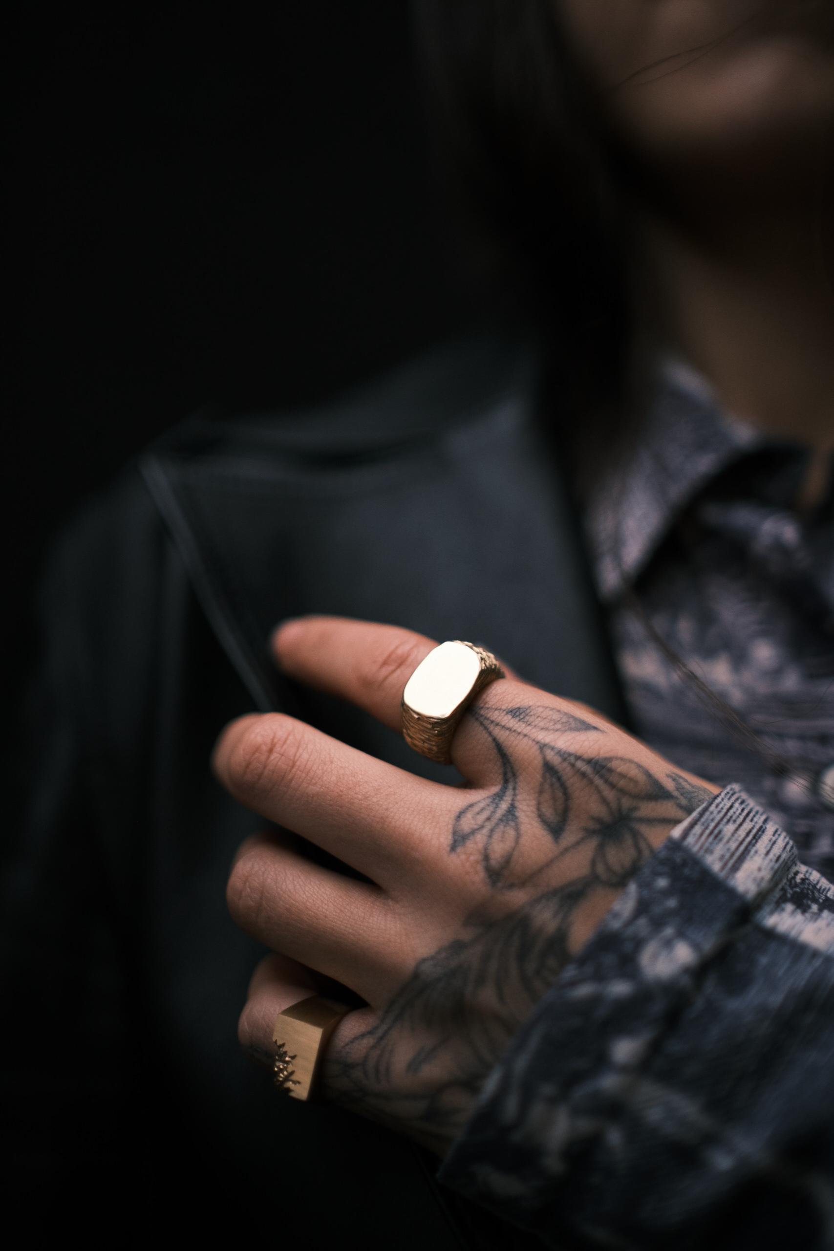 Cracked Ring Vermeil