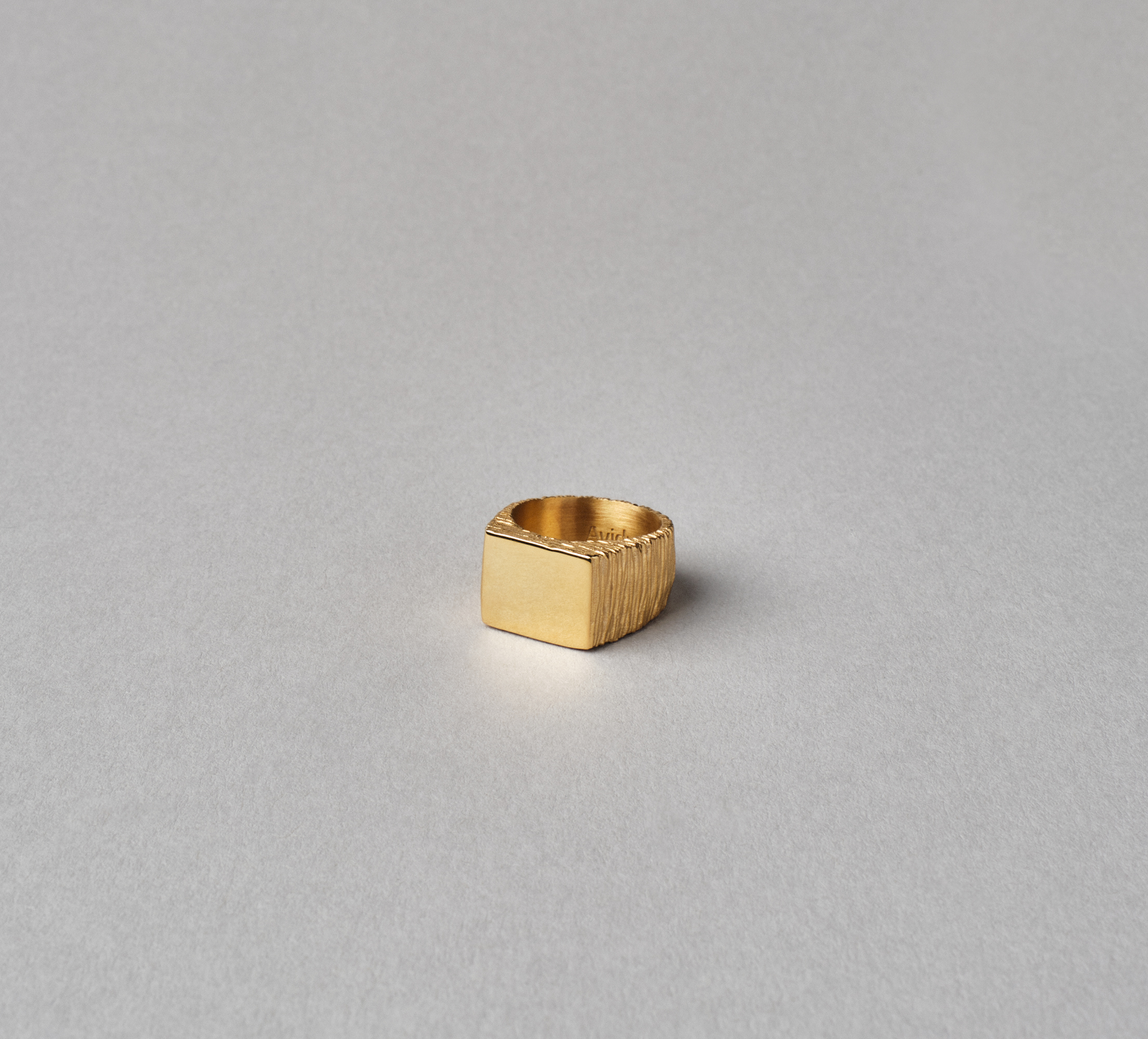 Square Slate Ring Vermeil
