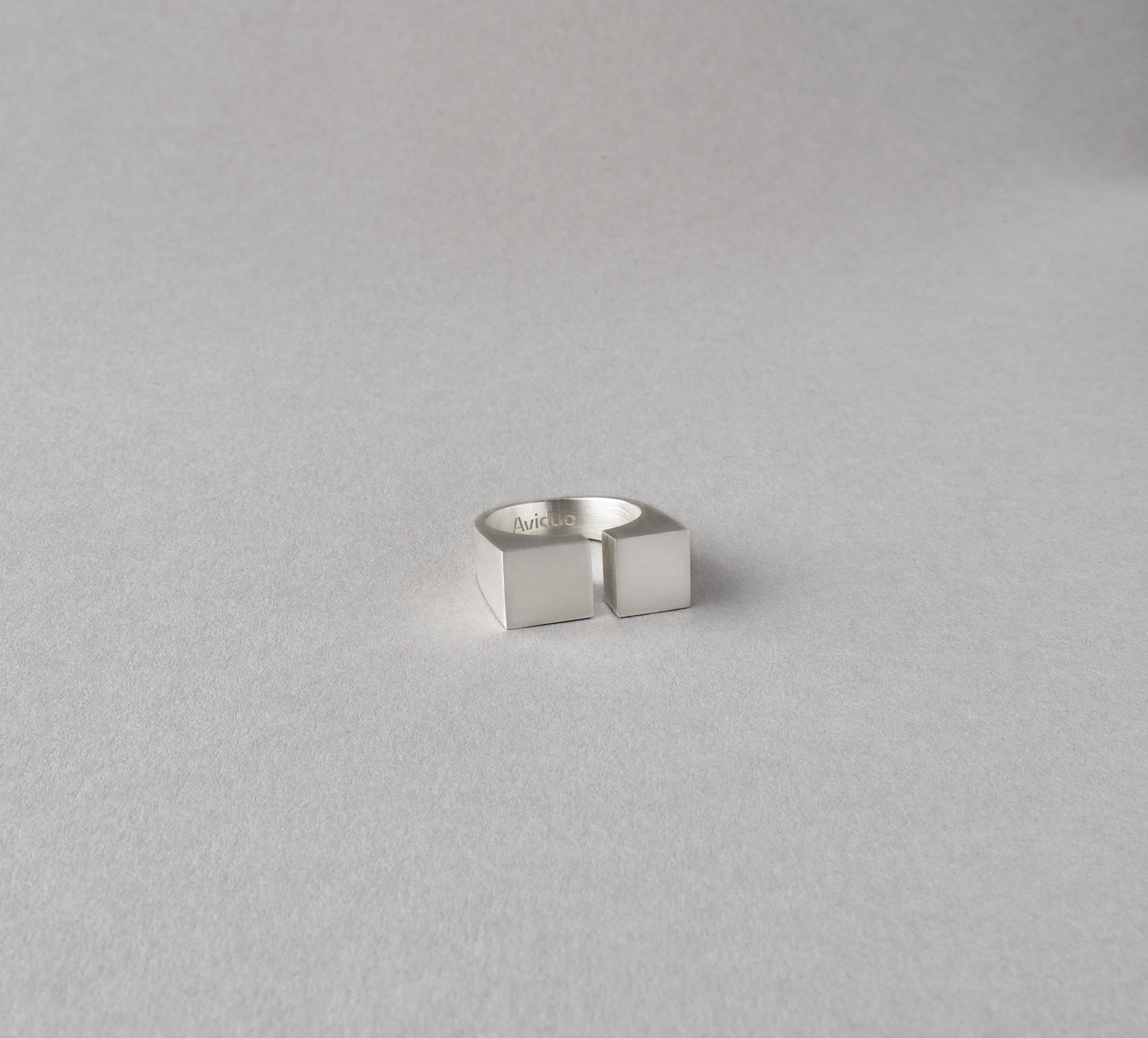 Cubic Ring Silver