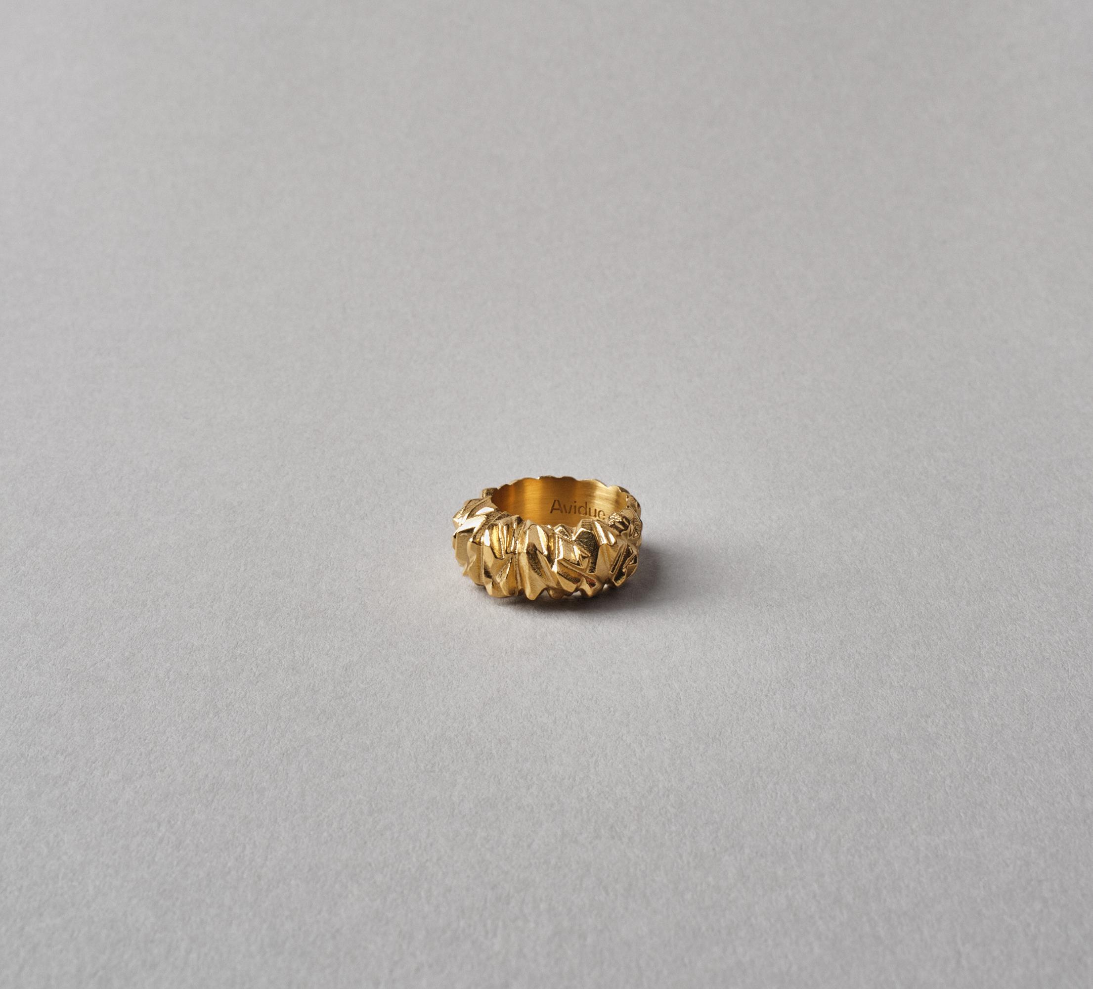 Crystal Ring Vermeil