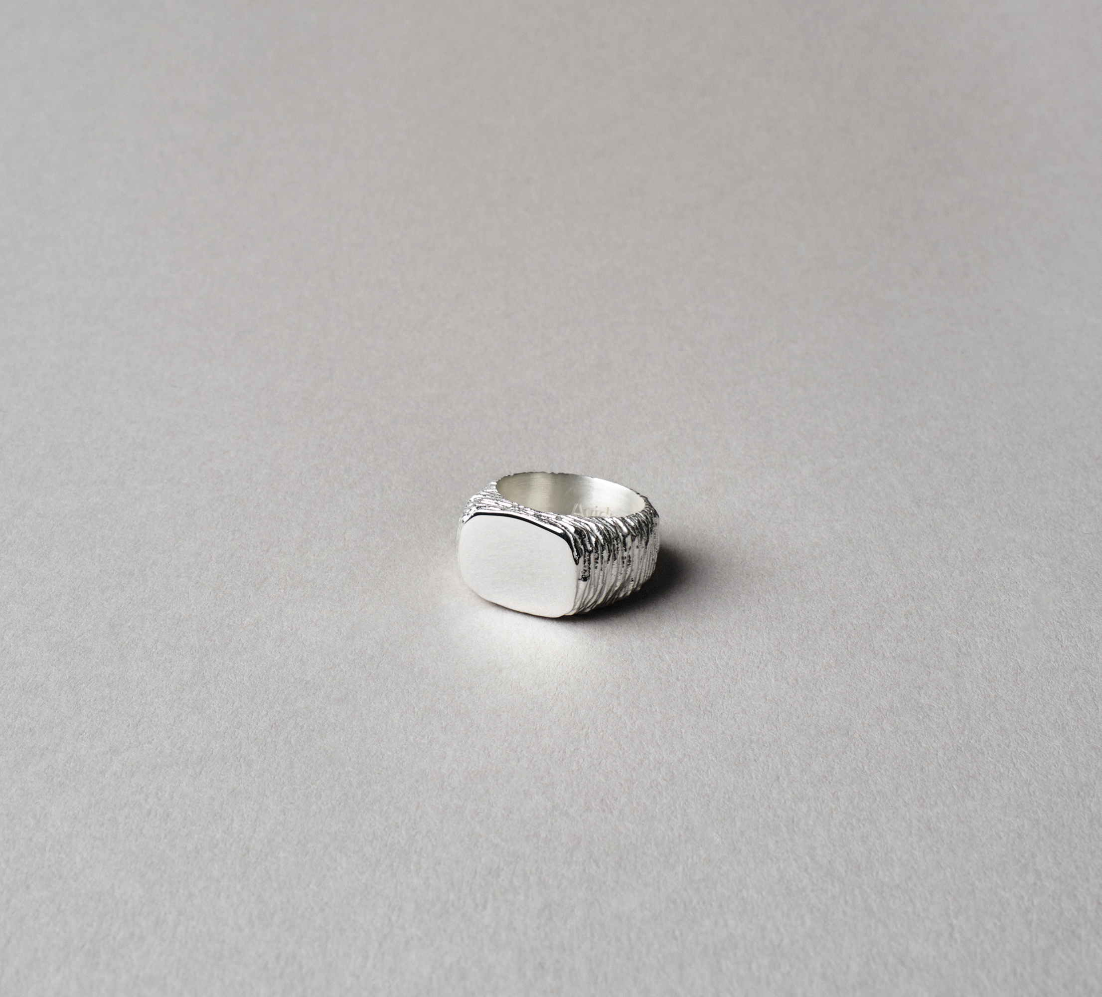 Oval Slate Ring Silver