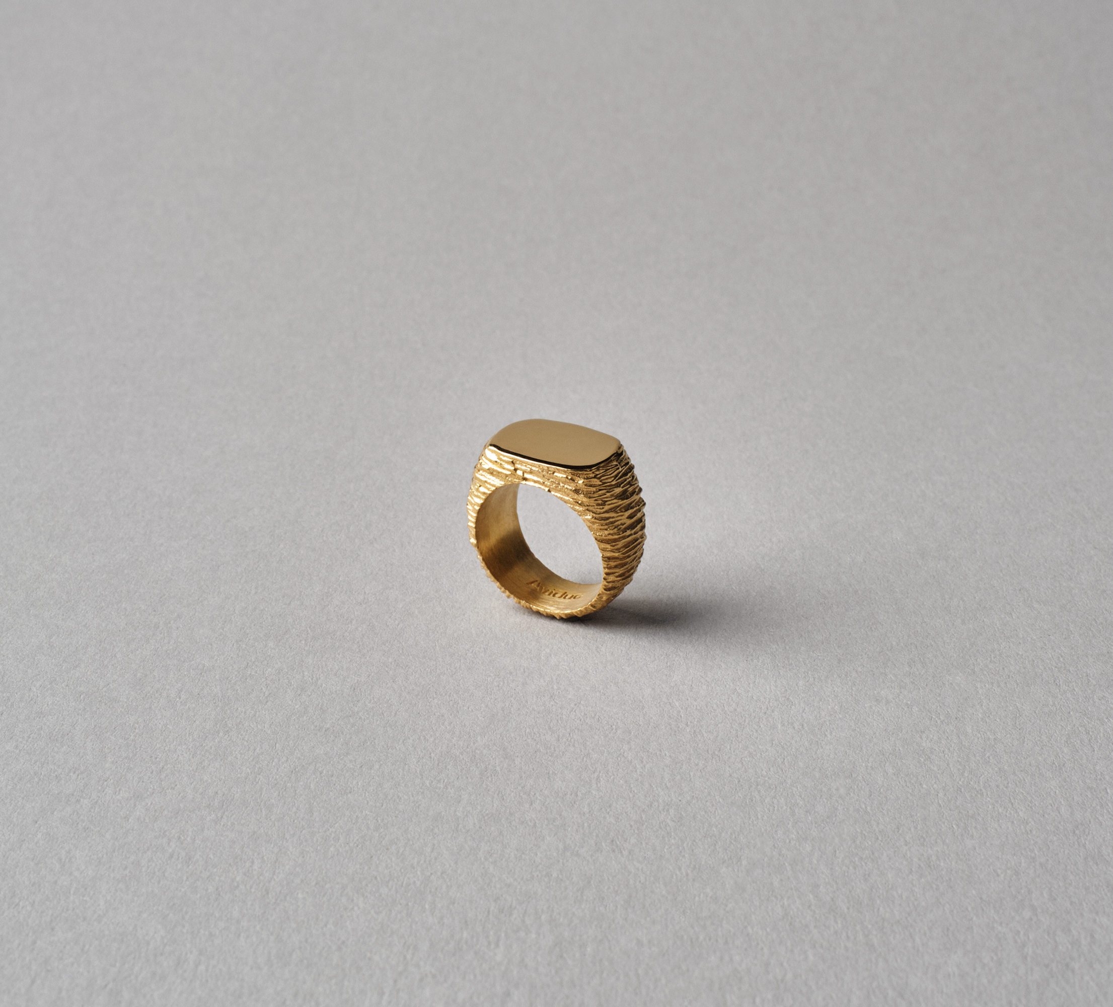 Oval Slate Ring Vermeil