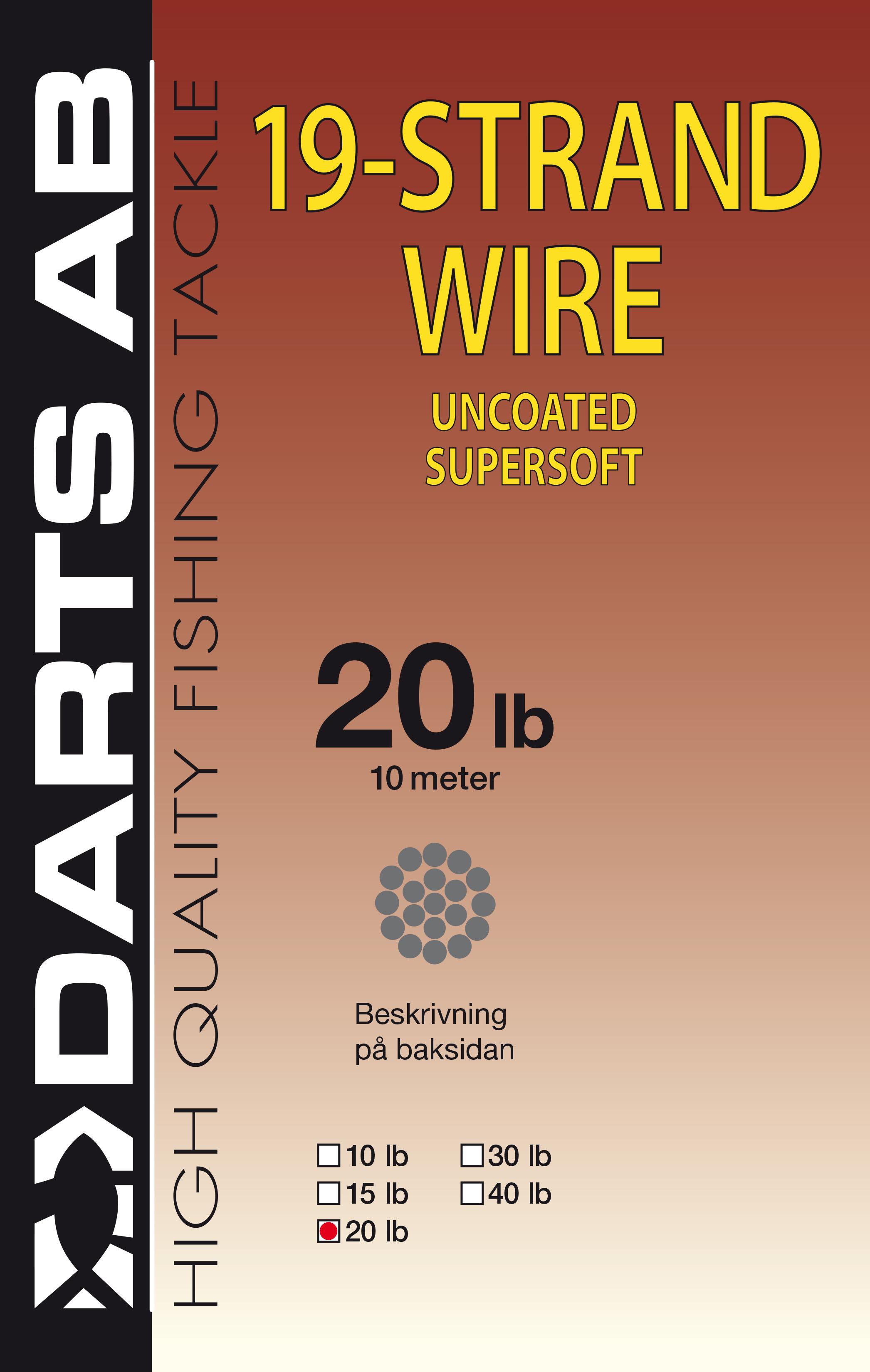 Darts 19-strand wire 20lb