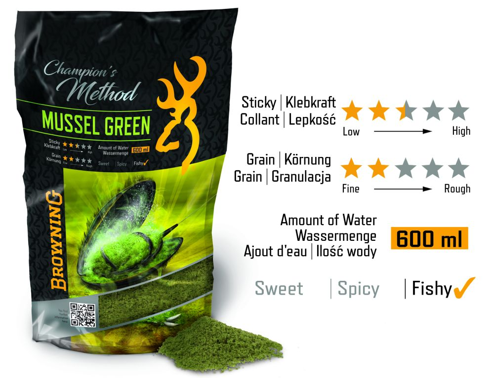 GREEN BROWNING CHAMPION'S METHOD MUSSEL GREEN 1KG