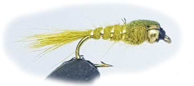 Wiggler fluga hare's ear olive stl12