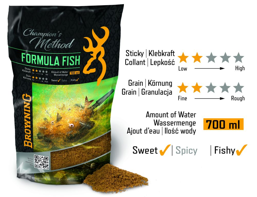 NATURAL BROWNING CHAMPION'S METHOD FORMULA FISH       SCOPEX CARAMEL 1KG