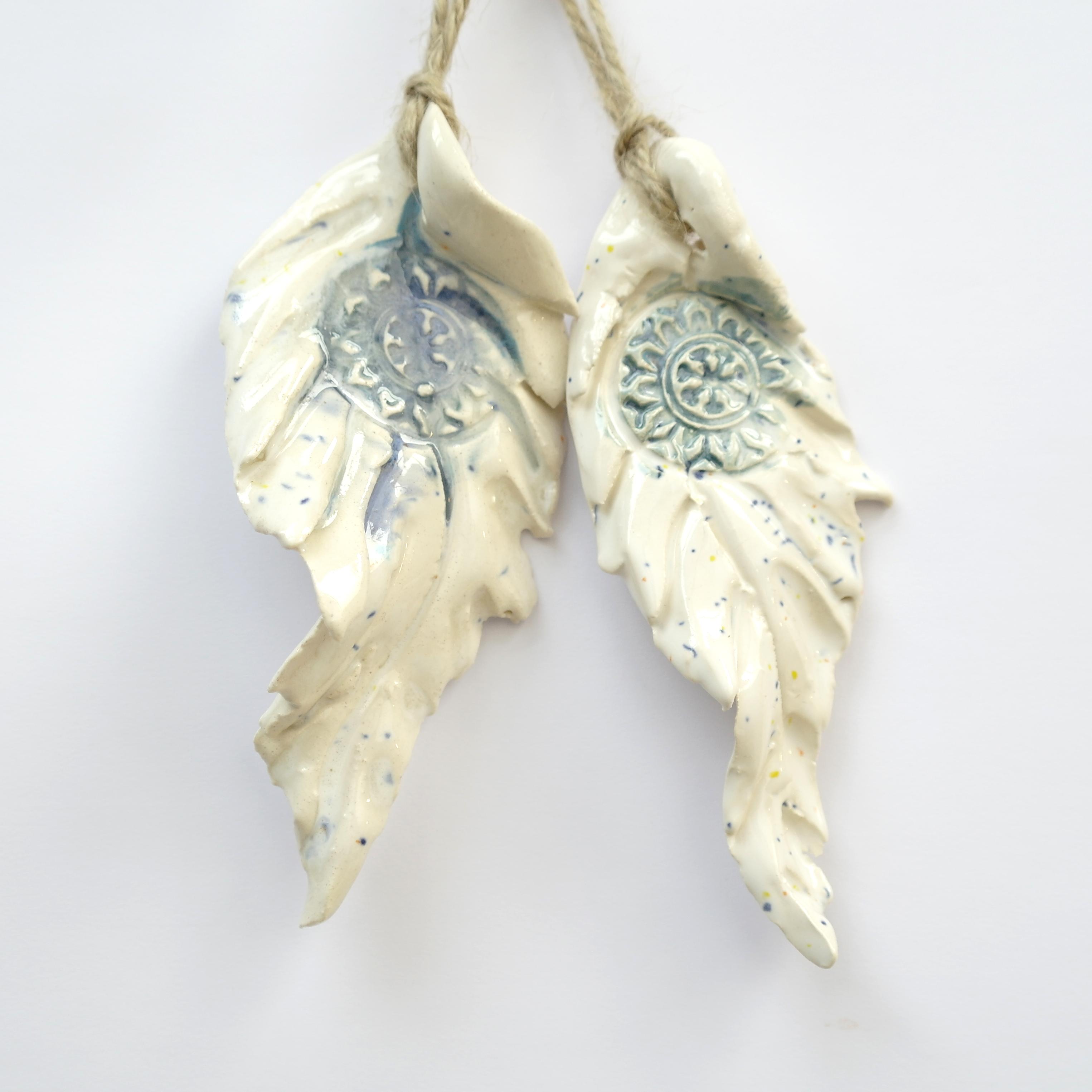 Ceramic Feather Hanging Decorations