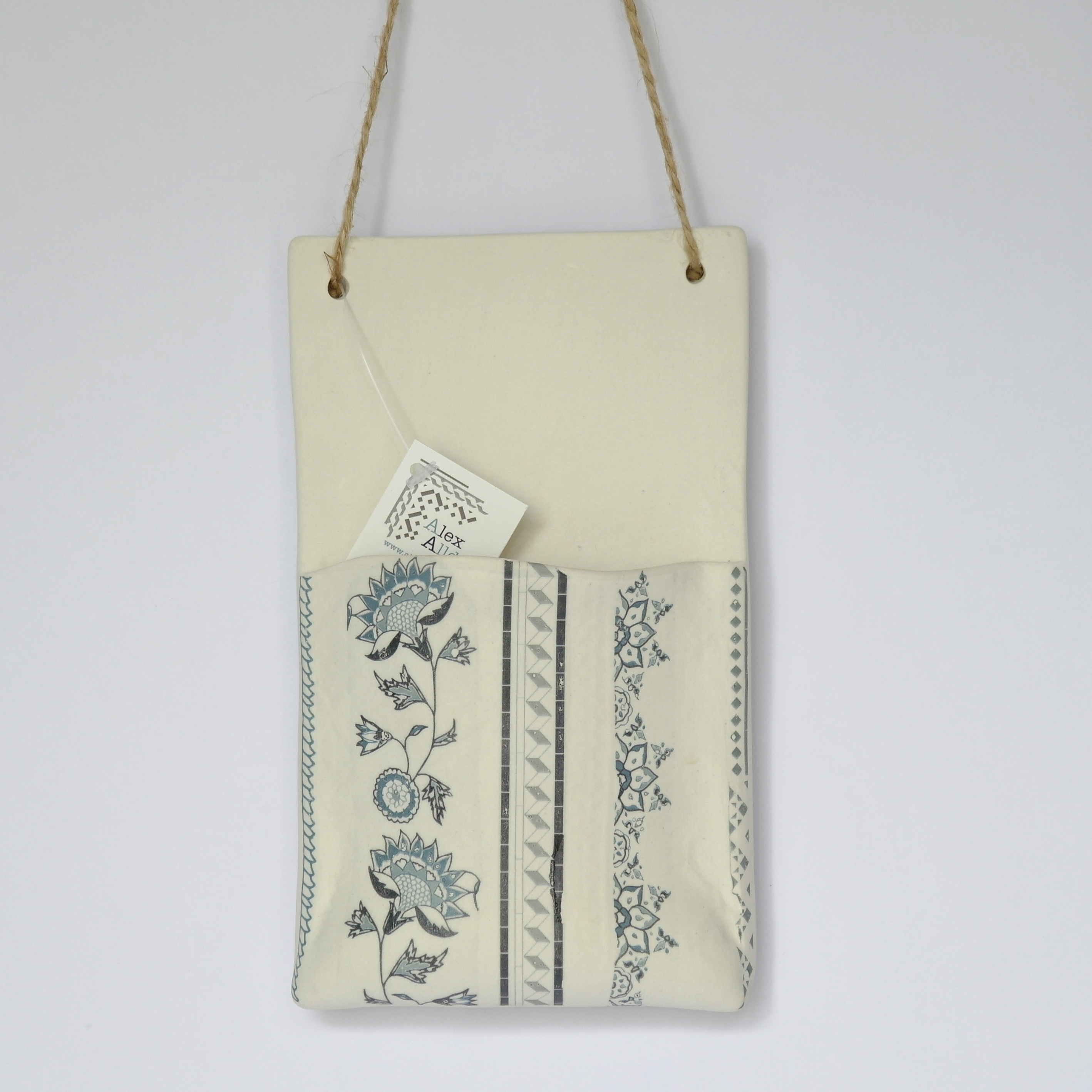 Porcelain Hanging Pocket Planters