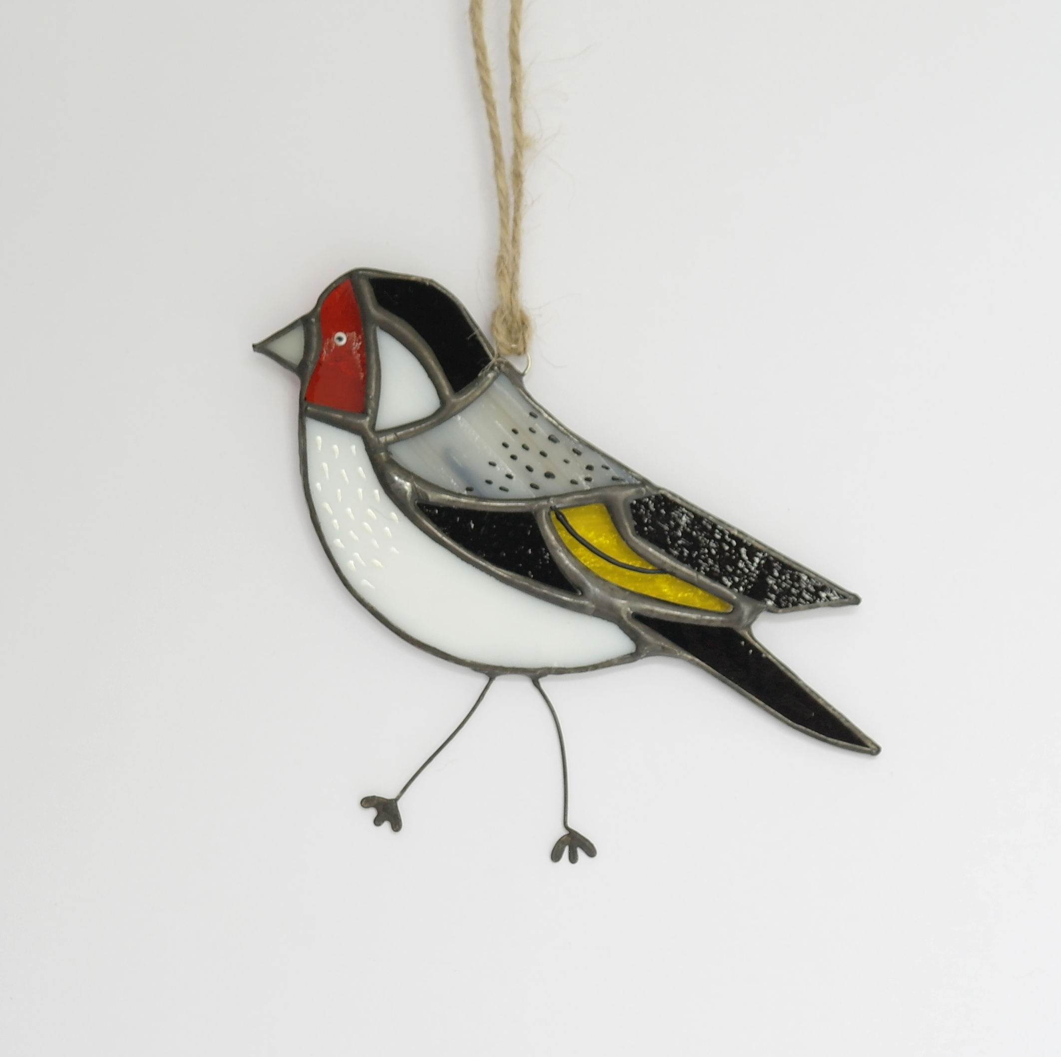 Goldfinch Glass Hanging (Boxed)