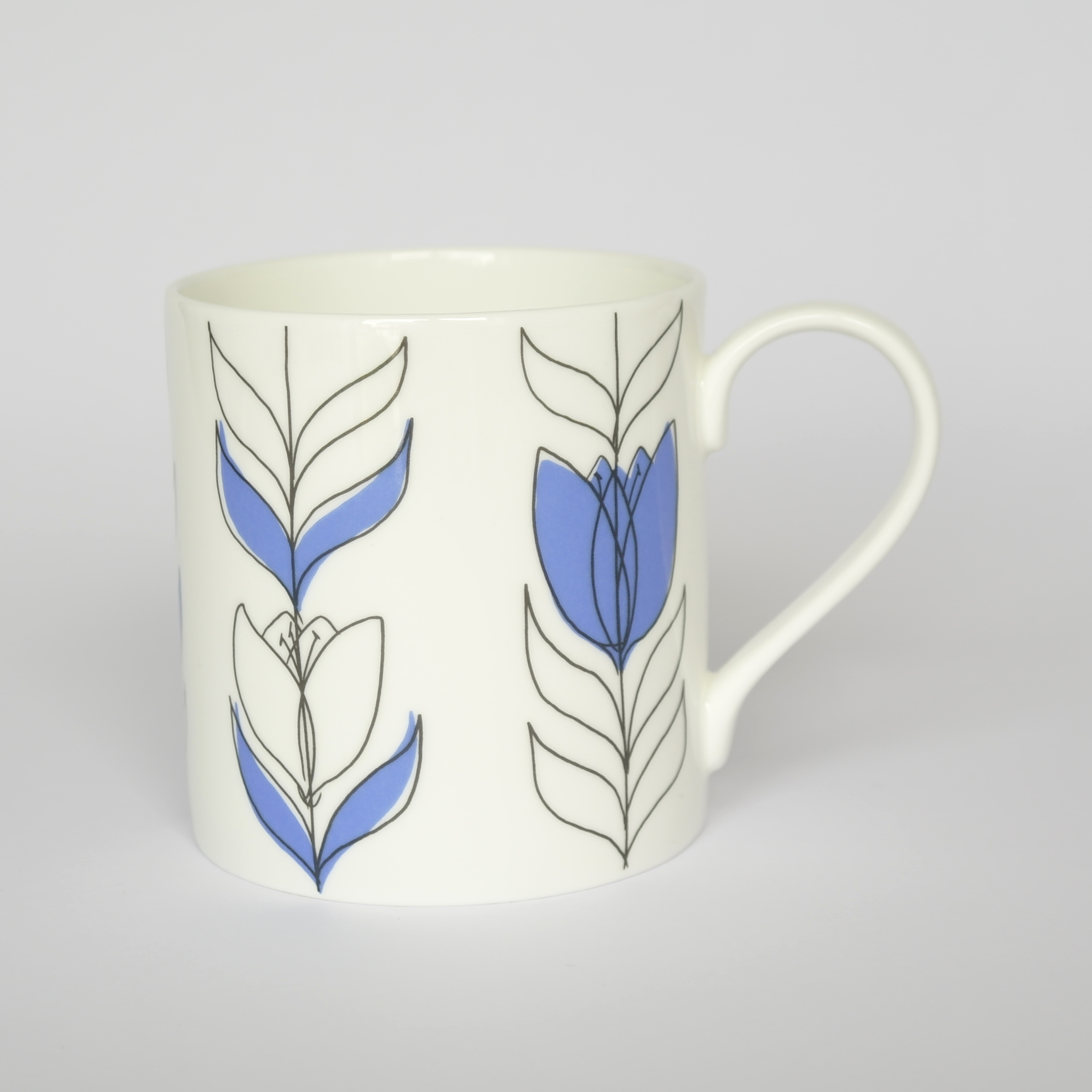 Tulip Linear Open Mug Boxed (English Fine Bone China) Available in 6 Colourways