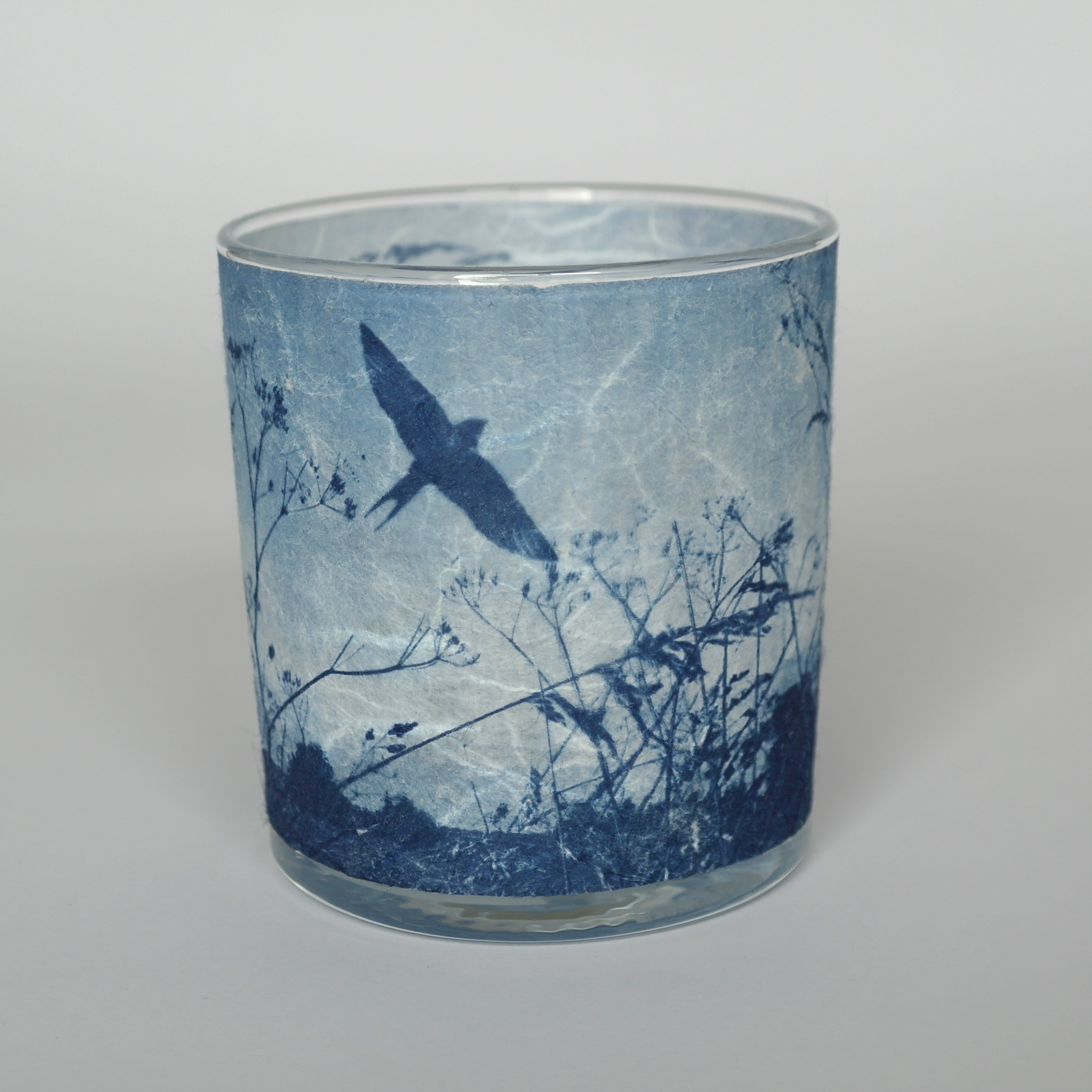 3 Swallows and Meadow Candle Holder