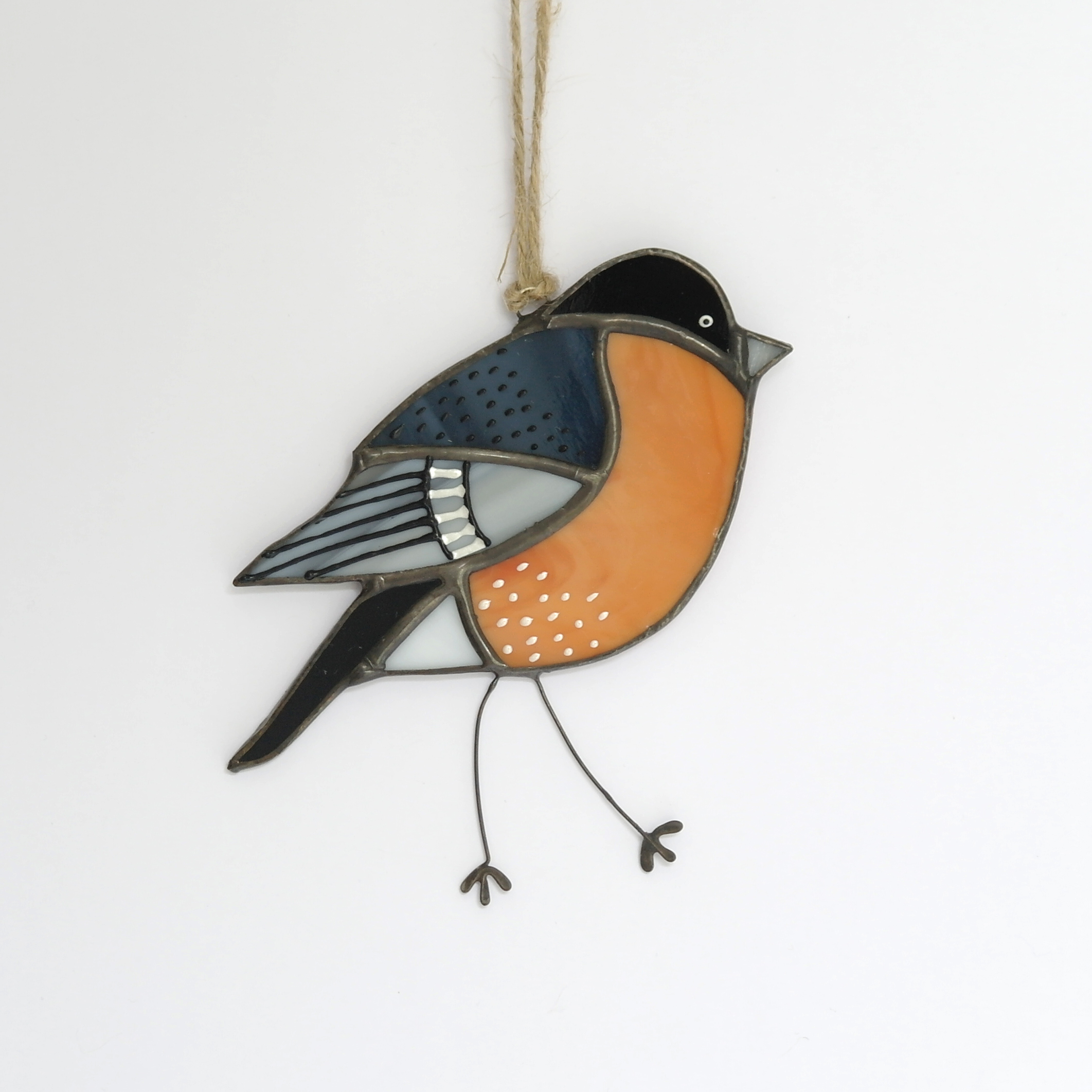 Bullfinch Glass Hanging (Boxed)