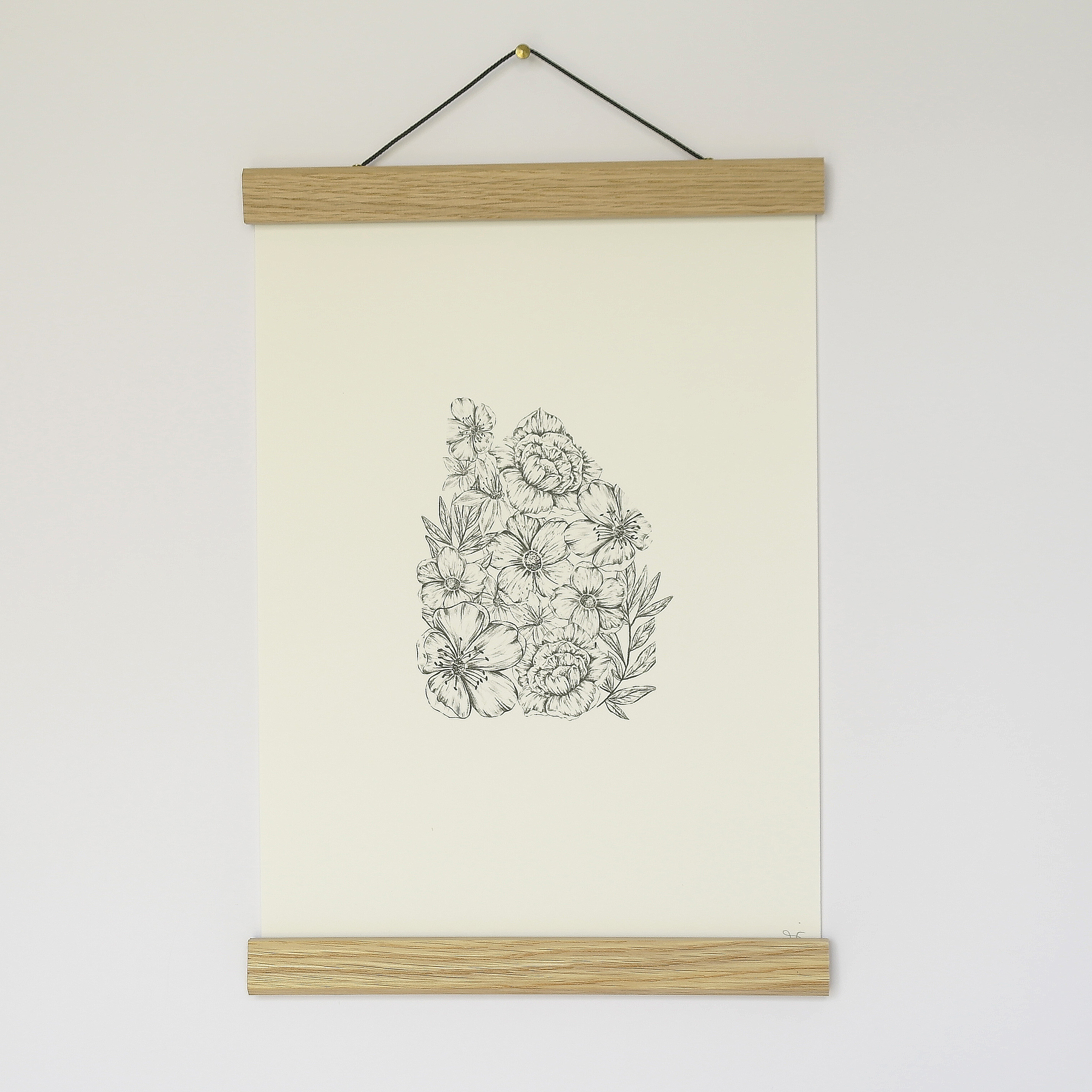 A4 Floral Home Print