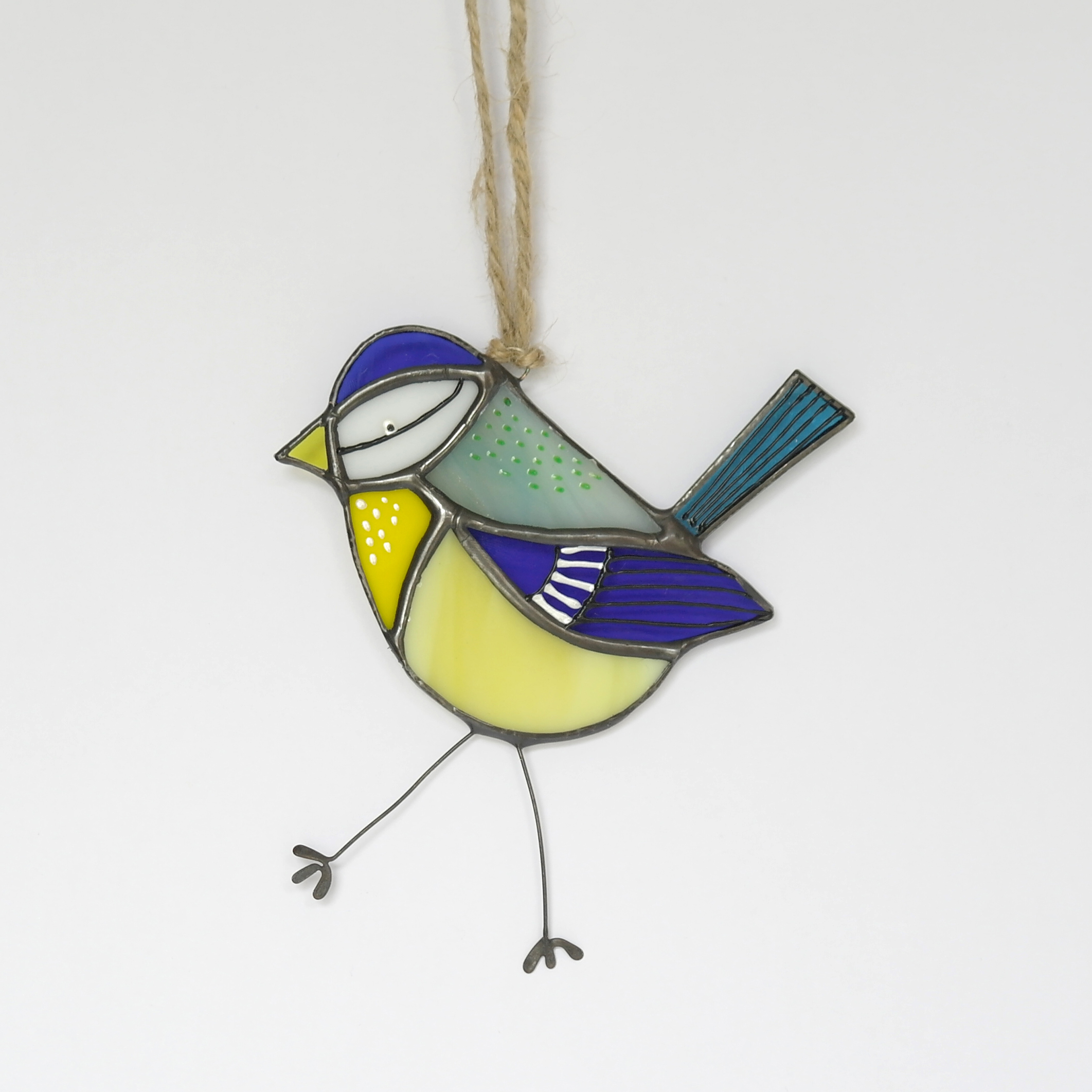 Blue Tit Glass Hanging (Boxed)