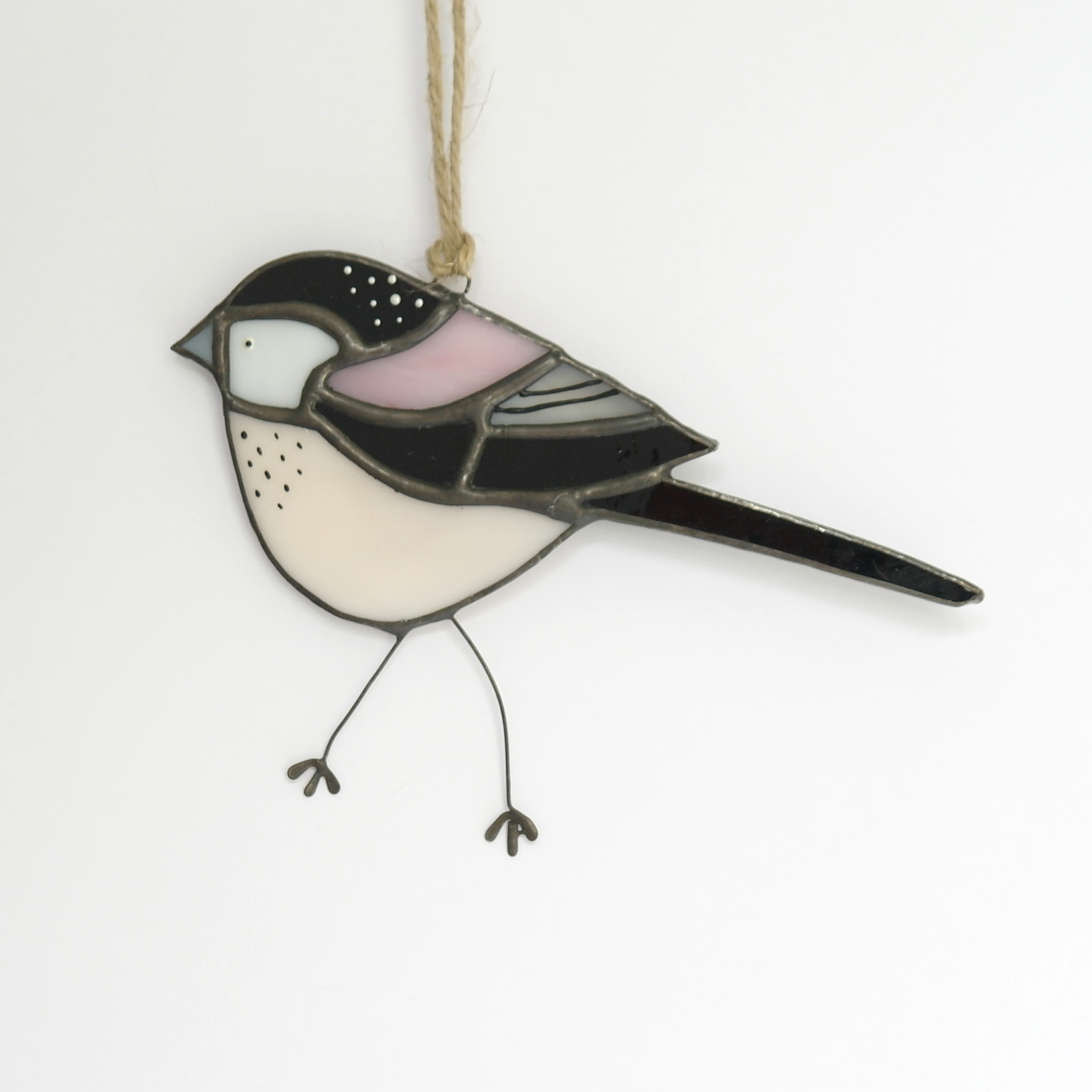 Longtailed Tit Glass Hanging (Boxed)