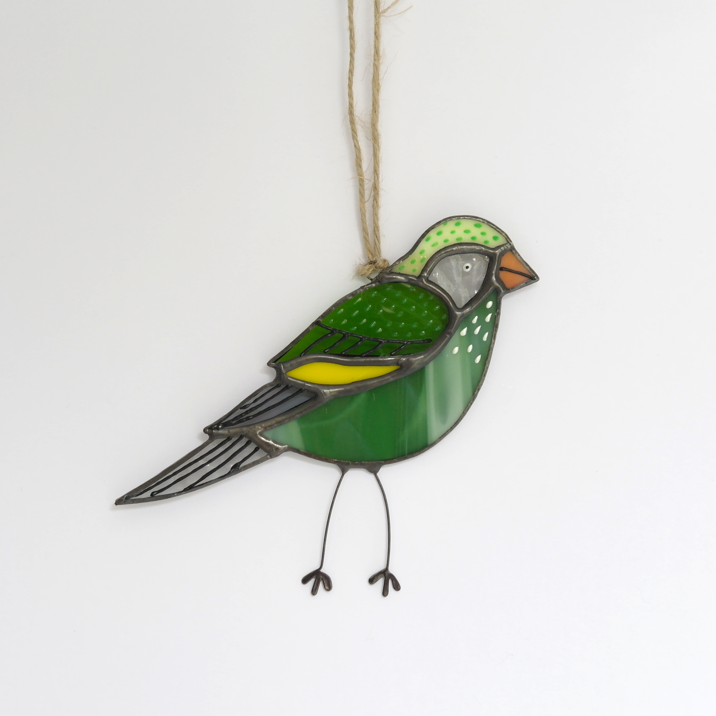 Greenfinch Glass Hanging (Boxed)