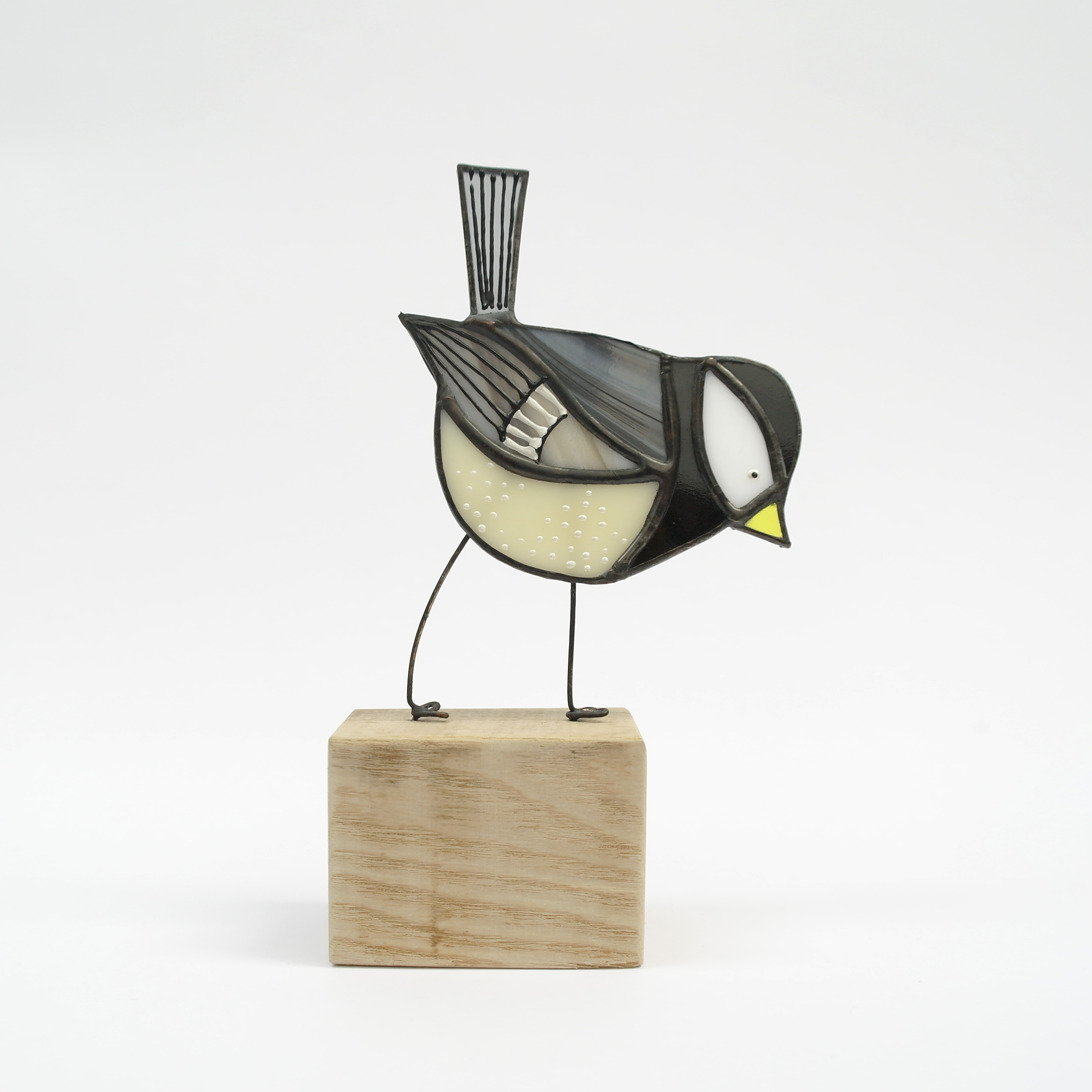 Coal Tit Bird on Block (Boxed)