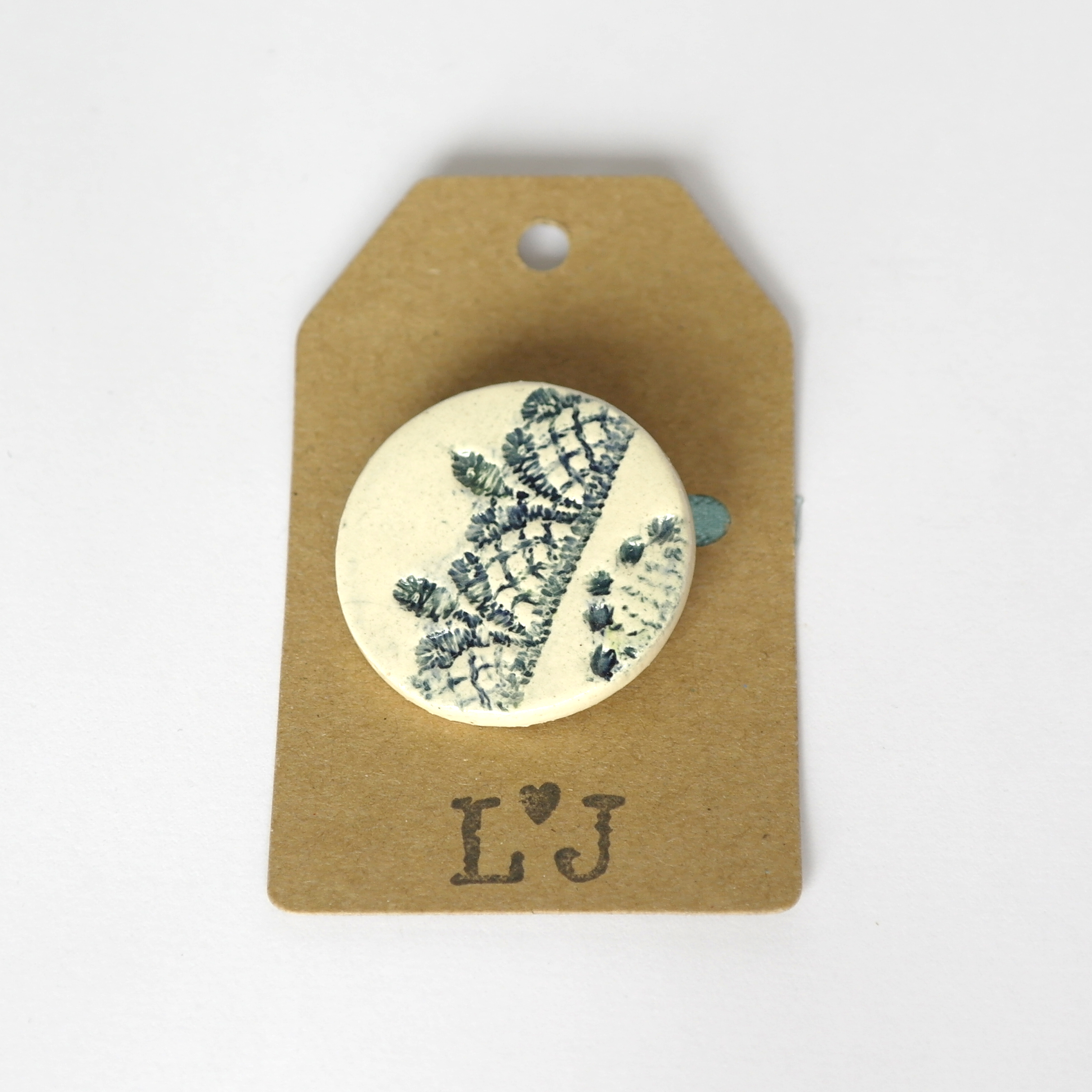 Decorative Ceramic Brooch