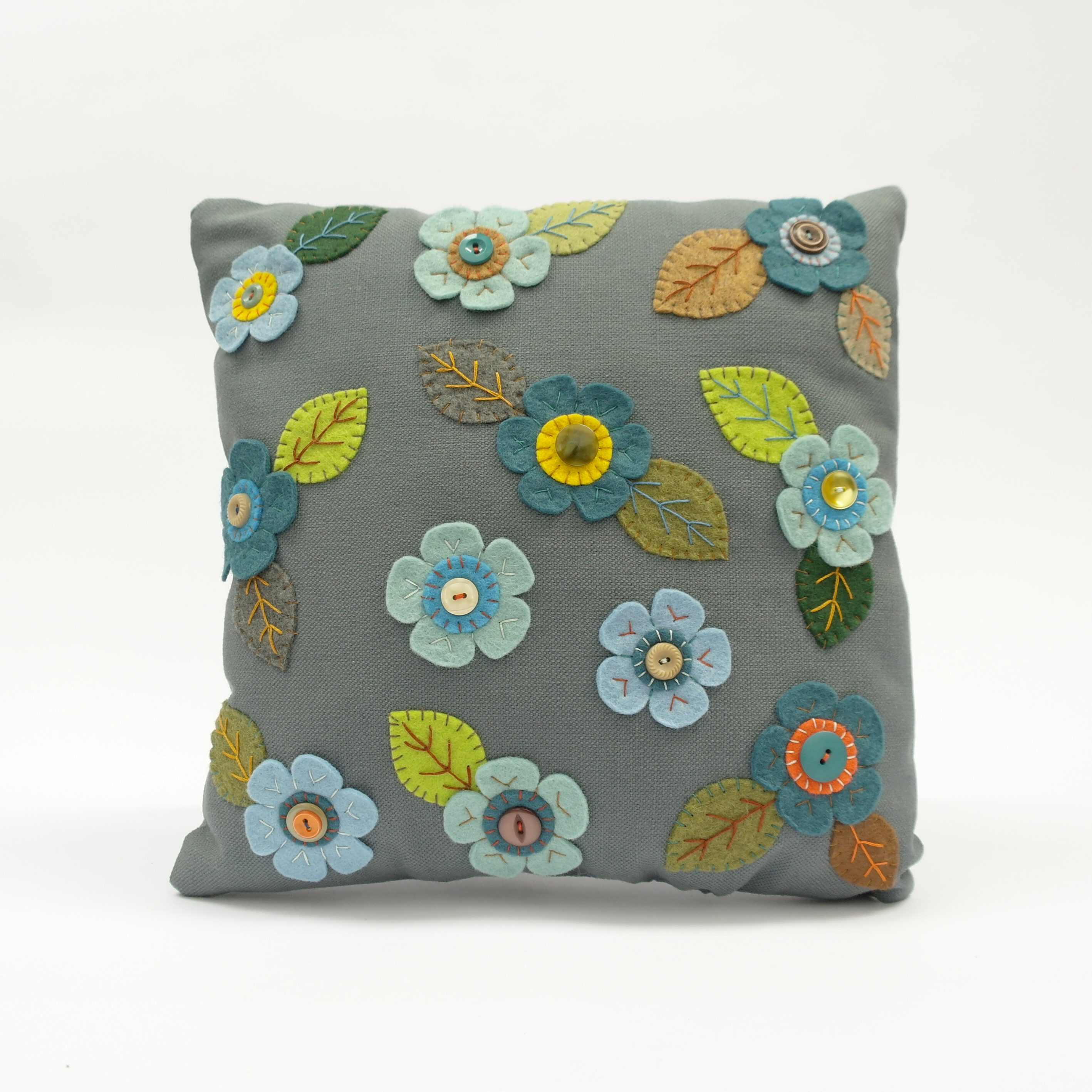 Floral Stitched Cushions - Square