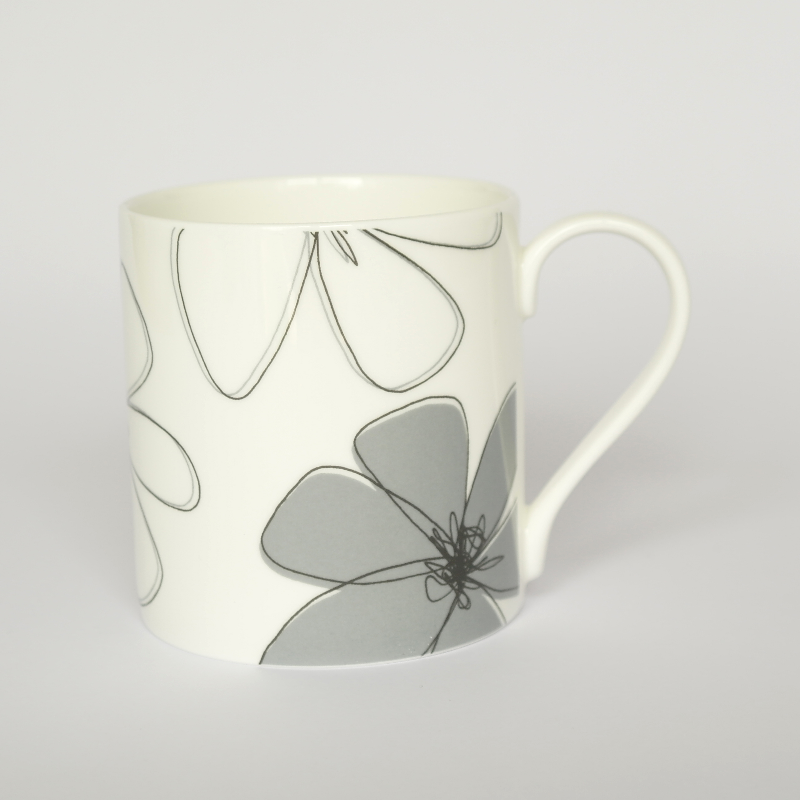 Daisy Open Mug Boxed (English Fine Bone China) Available in 6 Colourways