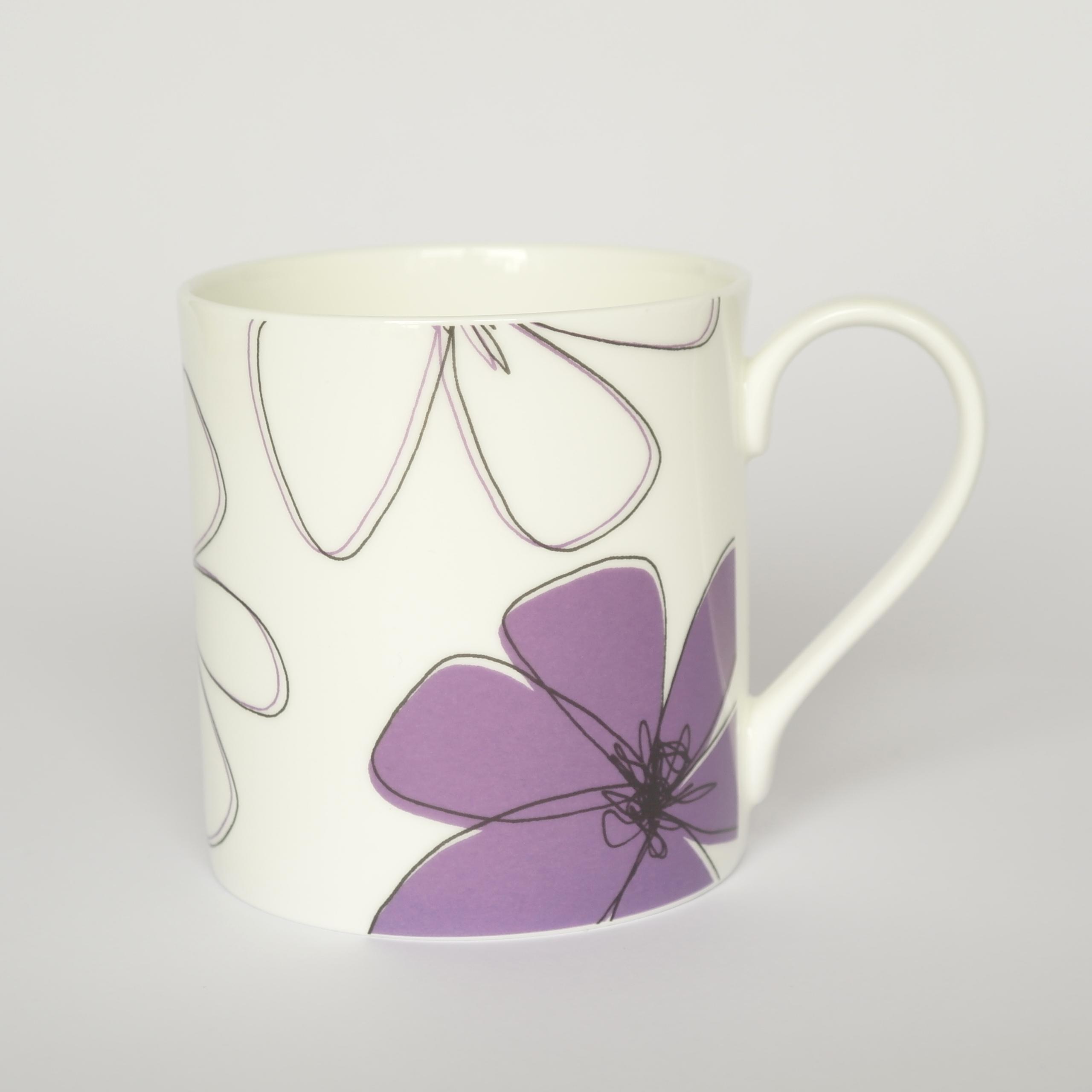 Daisy Open Mug Boxed (English Fine Bone China) Available in 6 Colourways