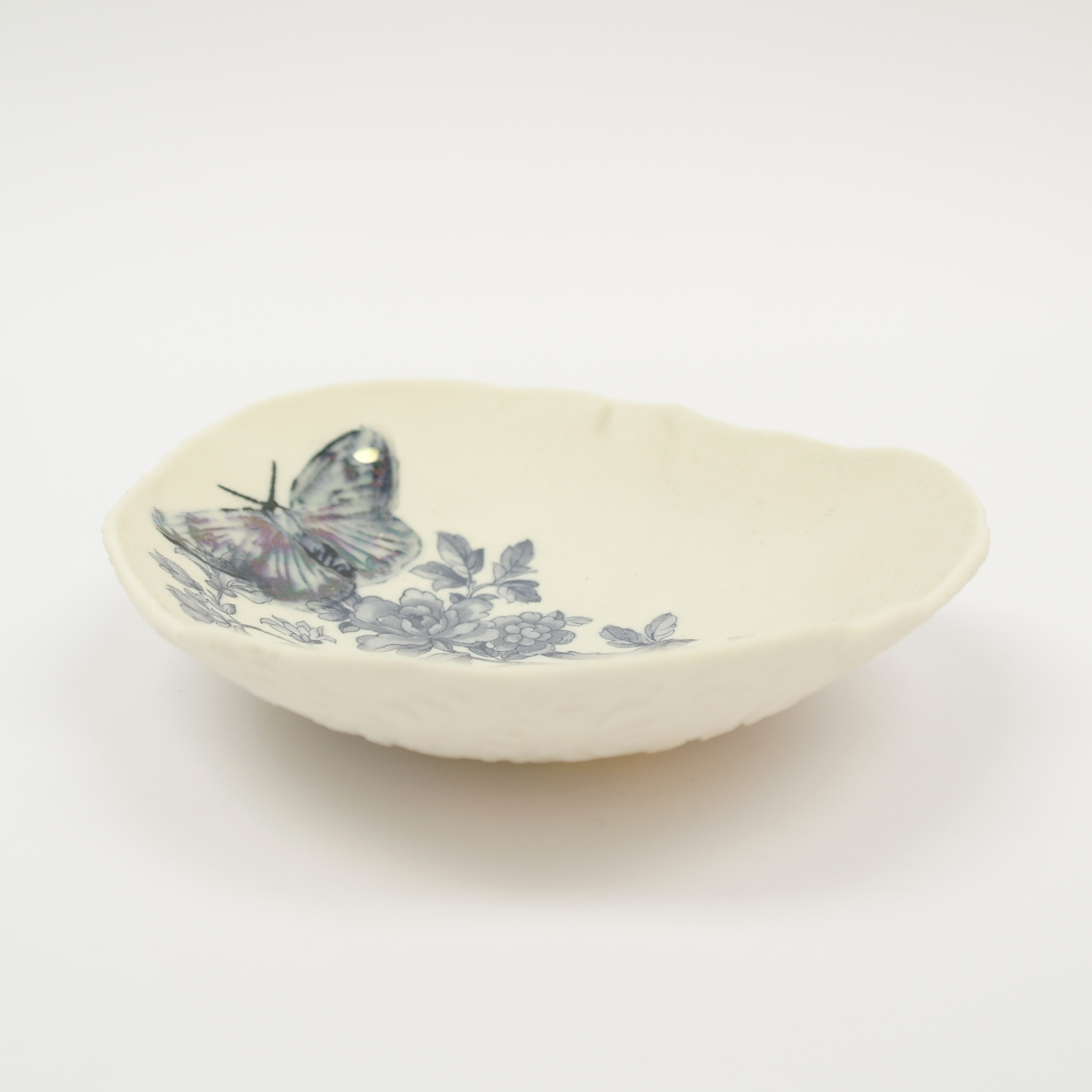 Ceramic Blue Butterfly Bowl (Boxed)