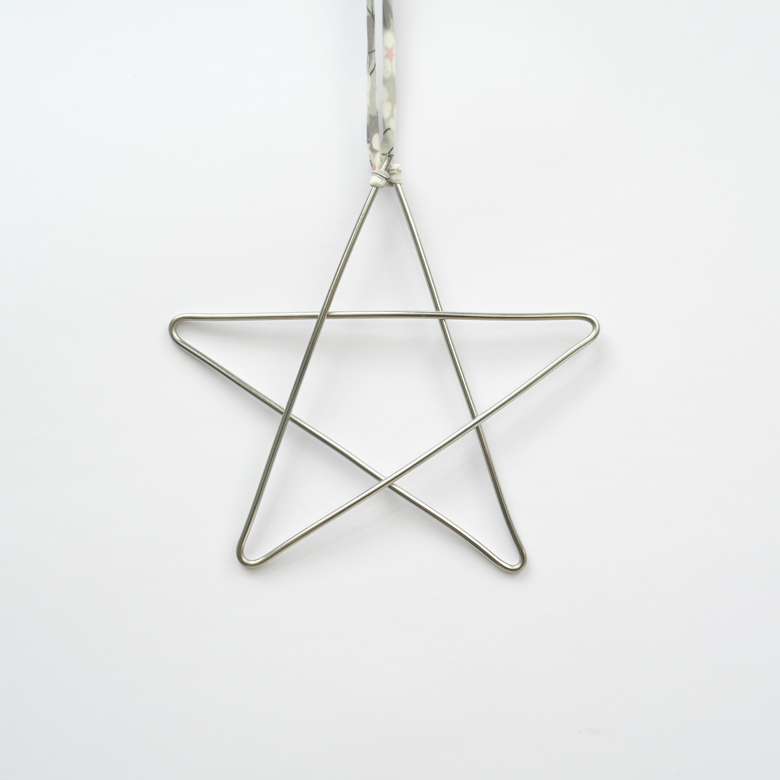 Wire Star Christmas Decorations - Set of 4