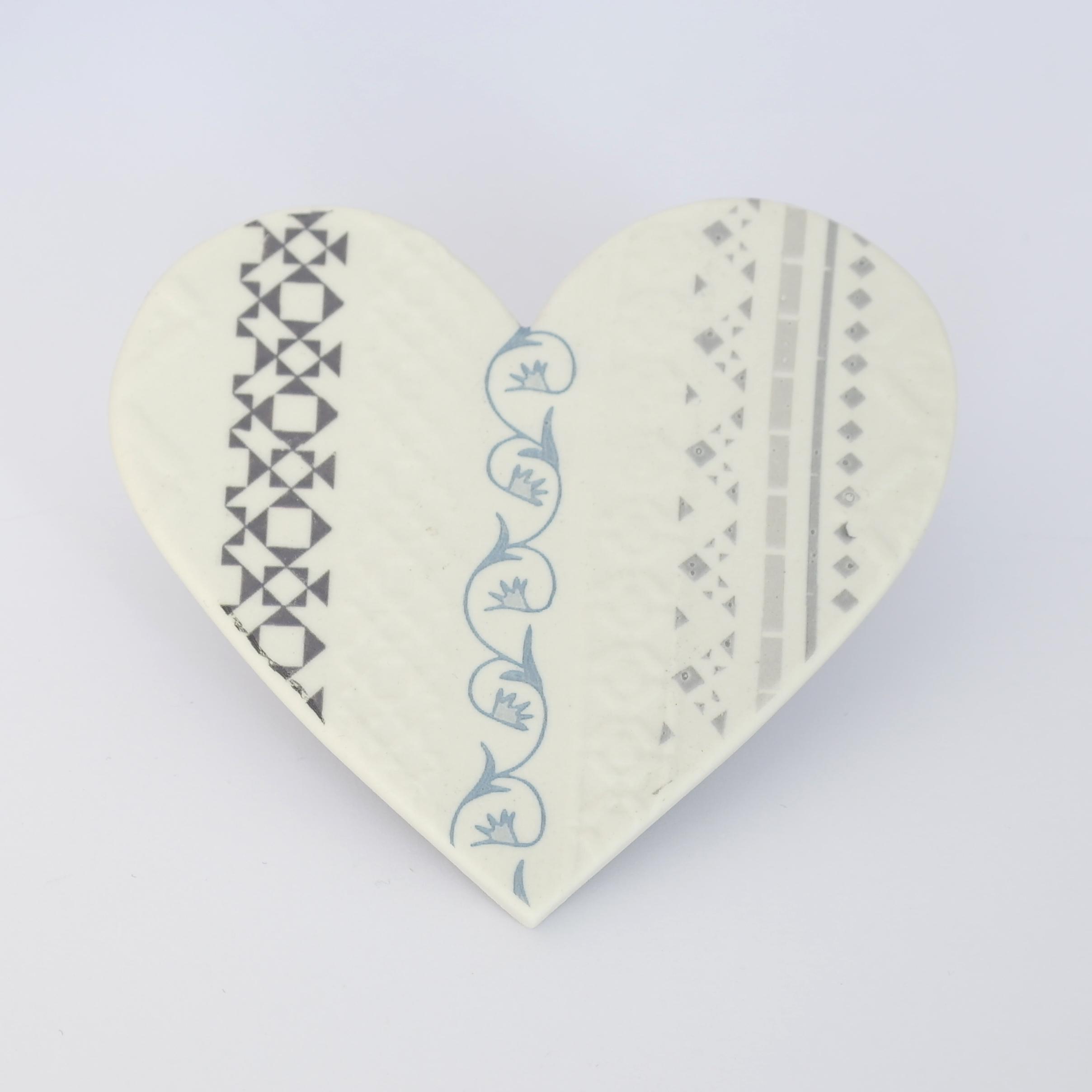 Ceramic Fusion Heart Magnet