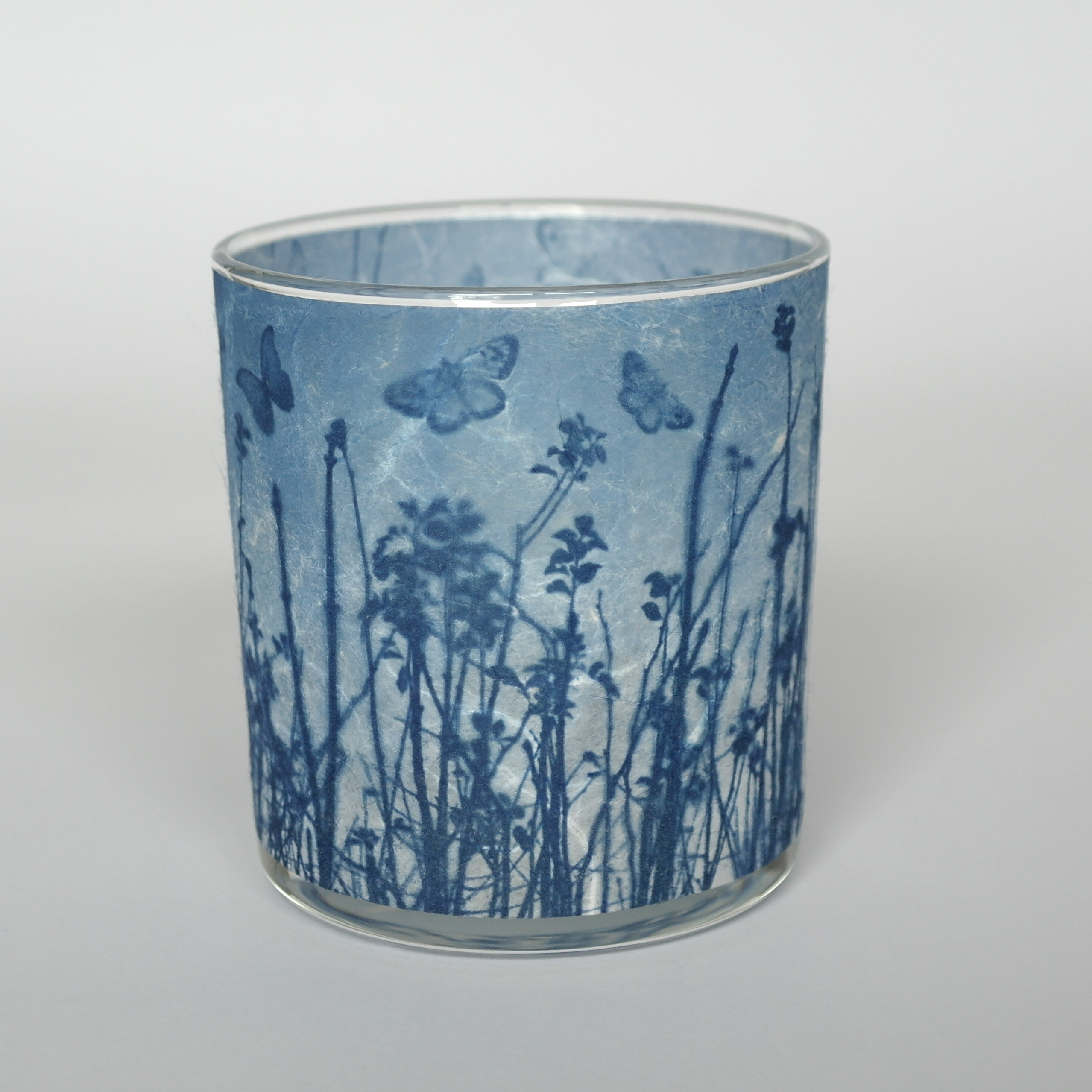 Blue Butterfly Meadow Candle Holder
