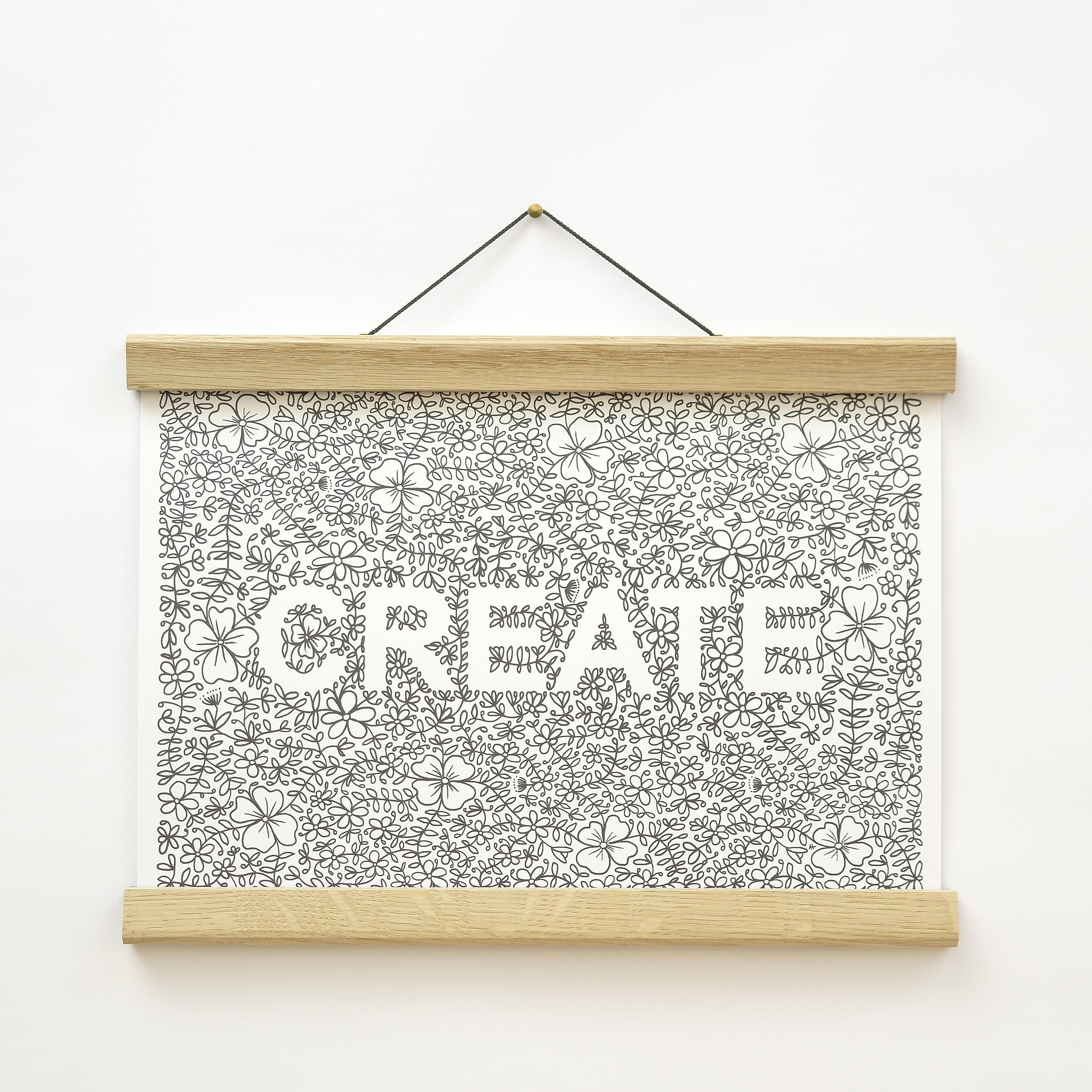 'Create' A4 Floral Print (unframed)